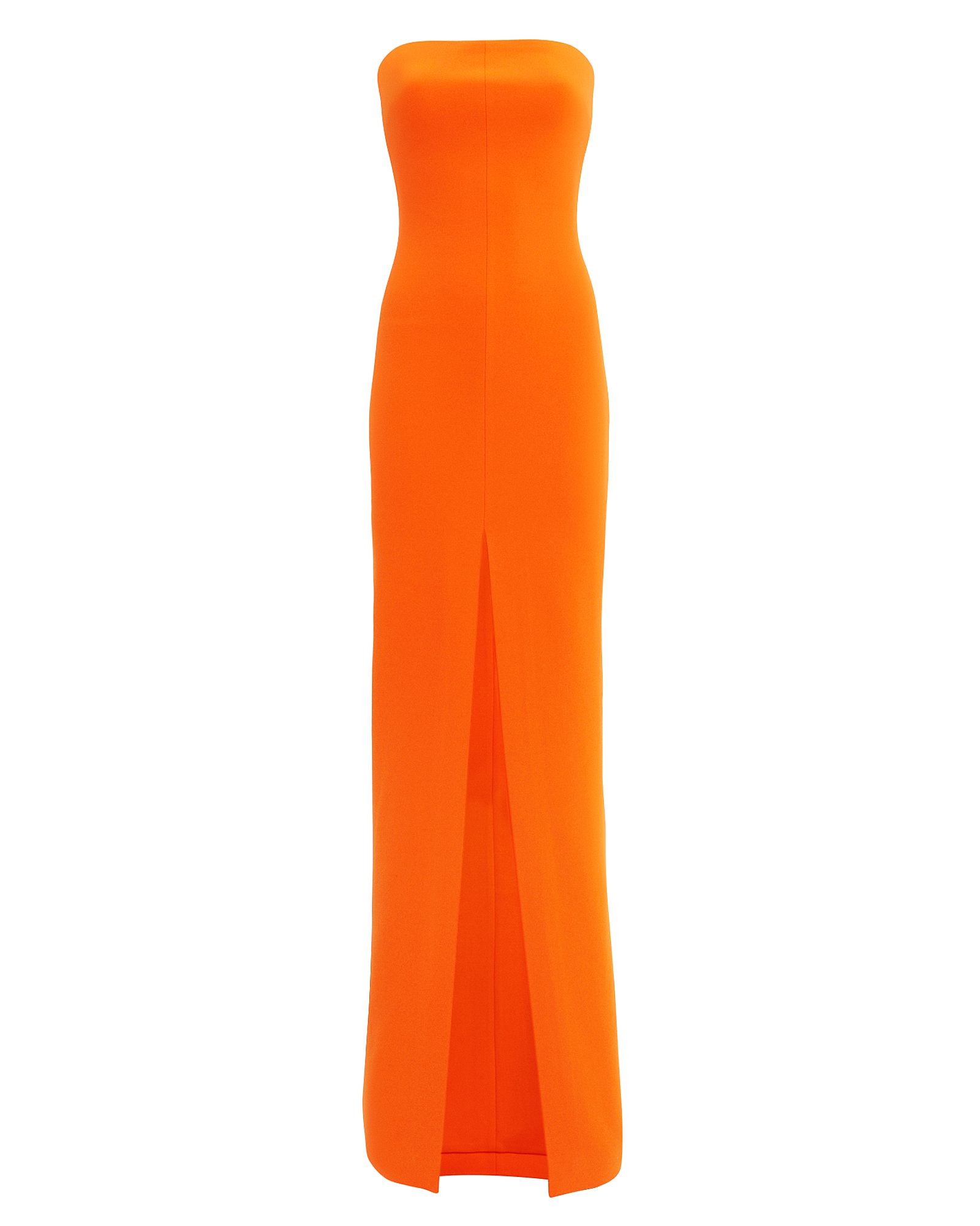 SOLACE London Bysha Tangerine Strapless Gown Tangerine
