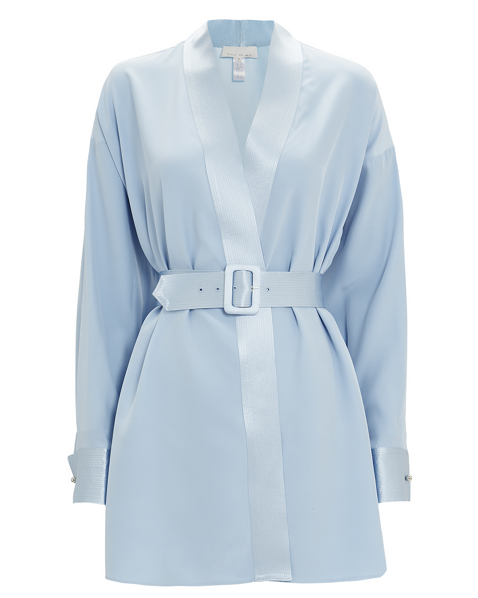 Fleur Du Mal Dresses FLEUR DU MAL CUFFLINK MINI DRESS  ICE BLUE L
