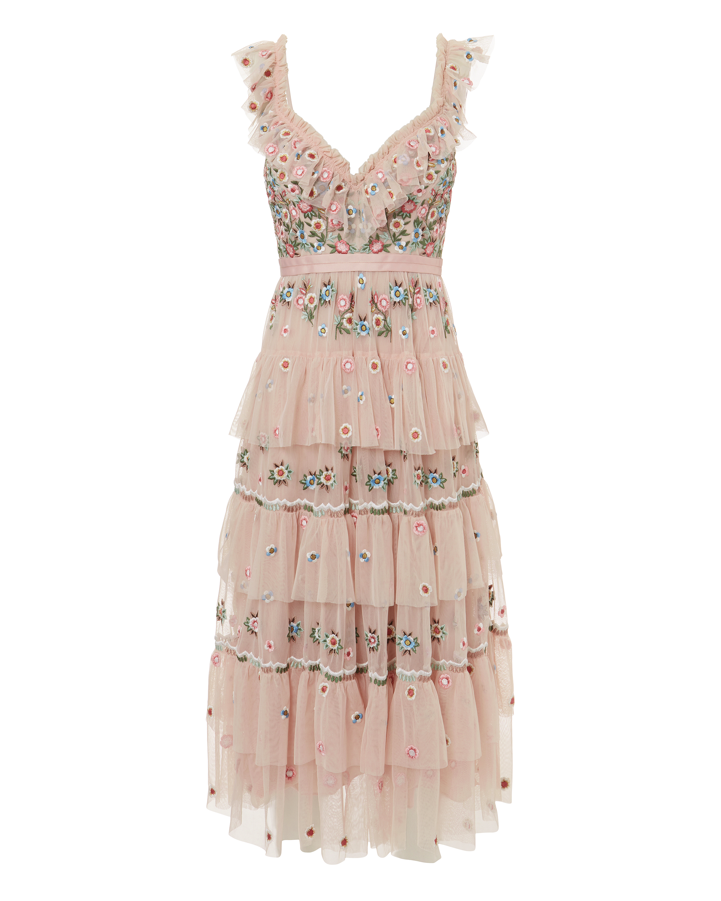 Whimsical Embellished Midi Dress by Needle & Thread