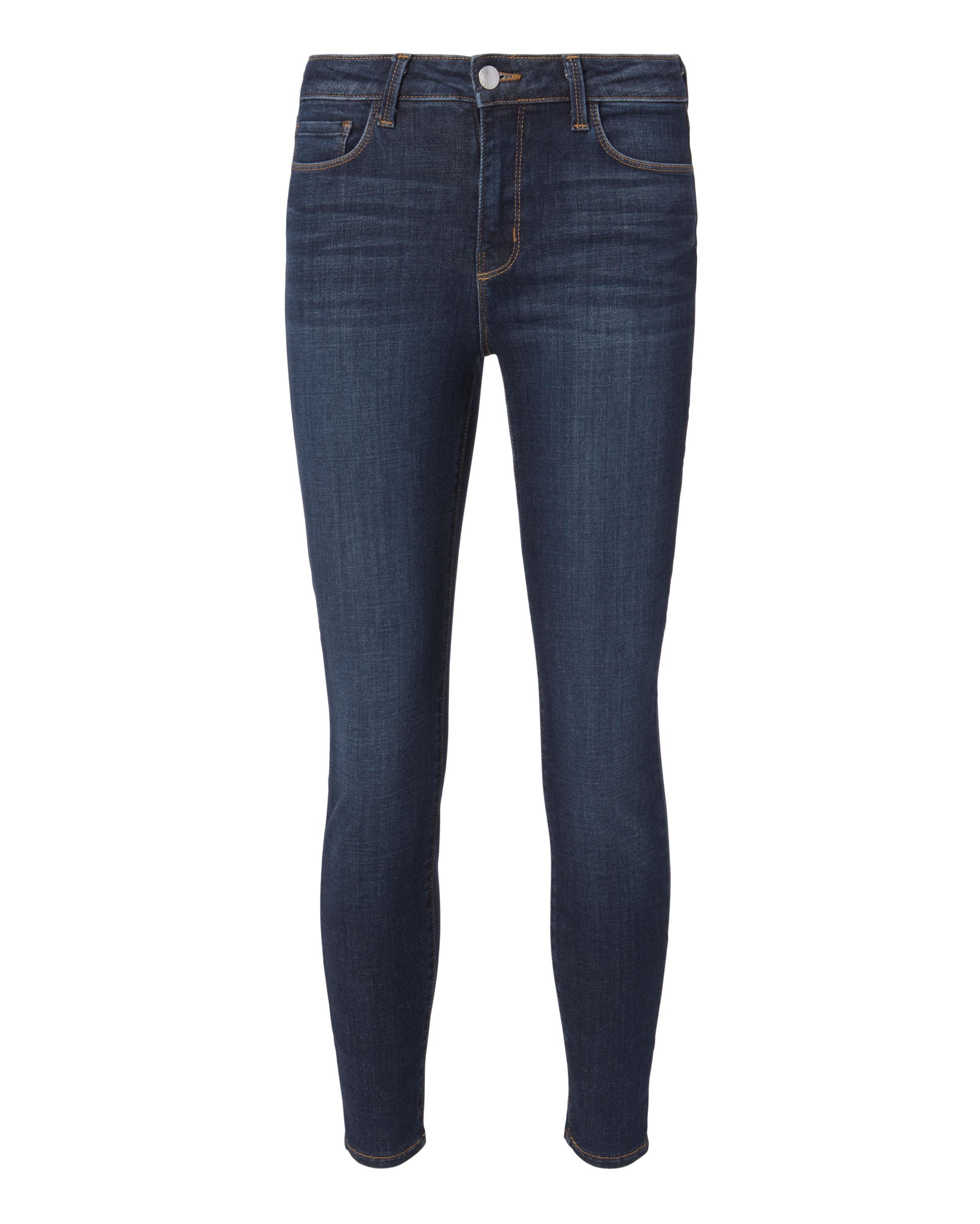 L AGENCE DENIM Margot Prime Vintage High-Rise Ankle Skinny Jeans Vintage Blue Denim