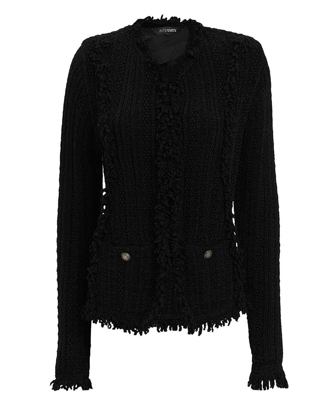 EXCLUSIVE FOR INTERMIX Intermix Ikaterina Black Knit Jacket Black