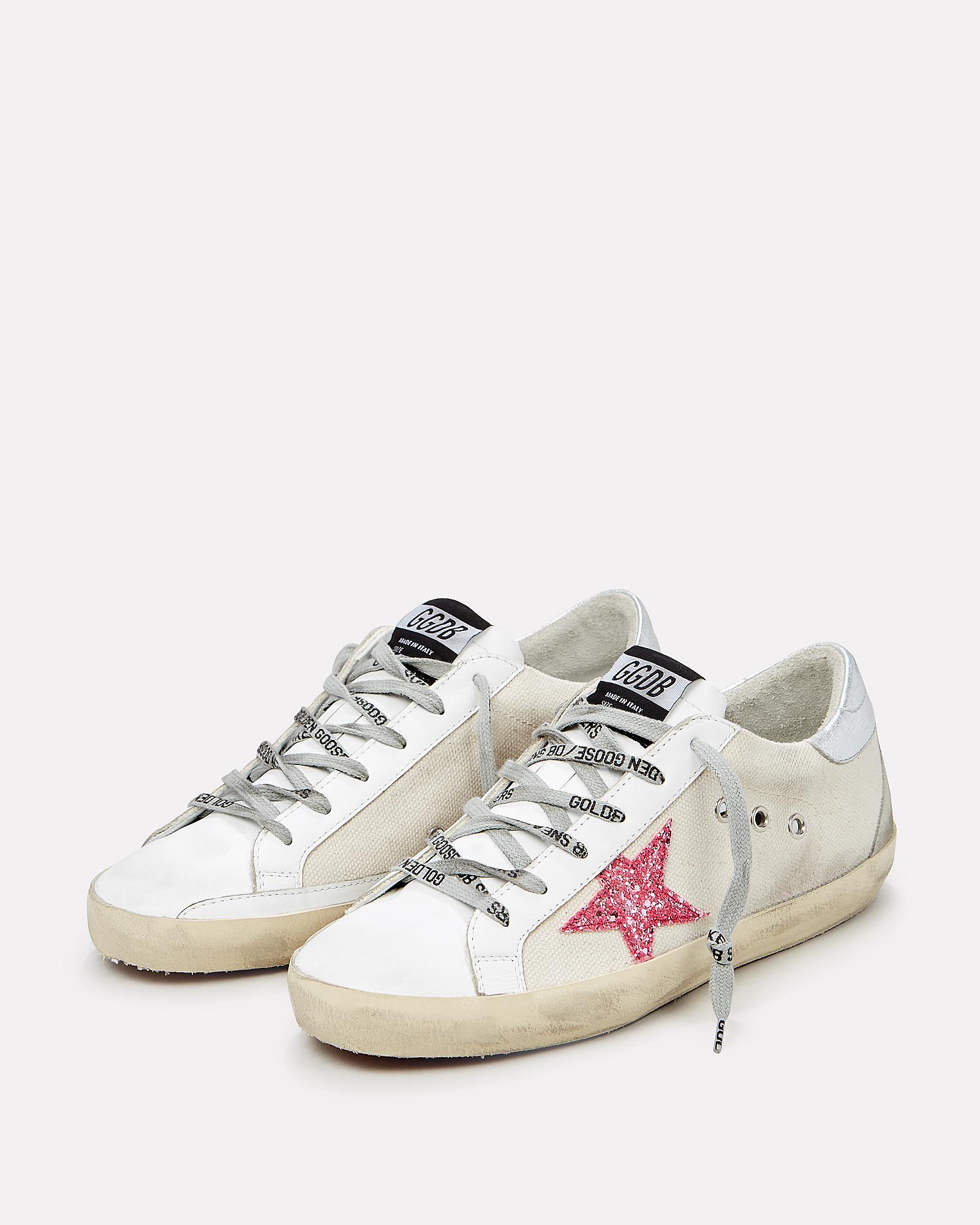 Superstar Pink Glitter Sneakers