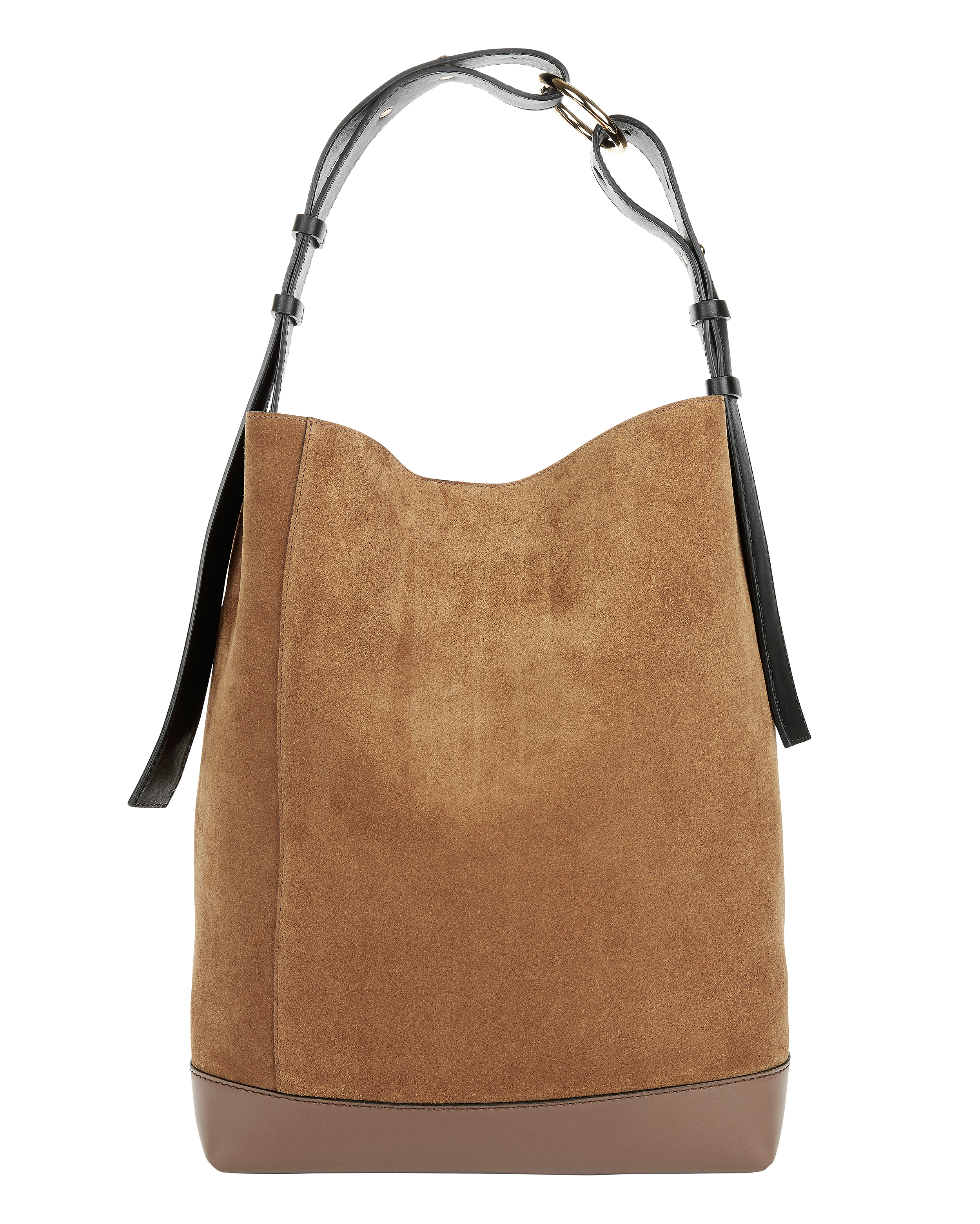 Brown Suede Hobo Bag