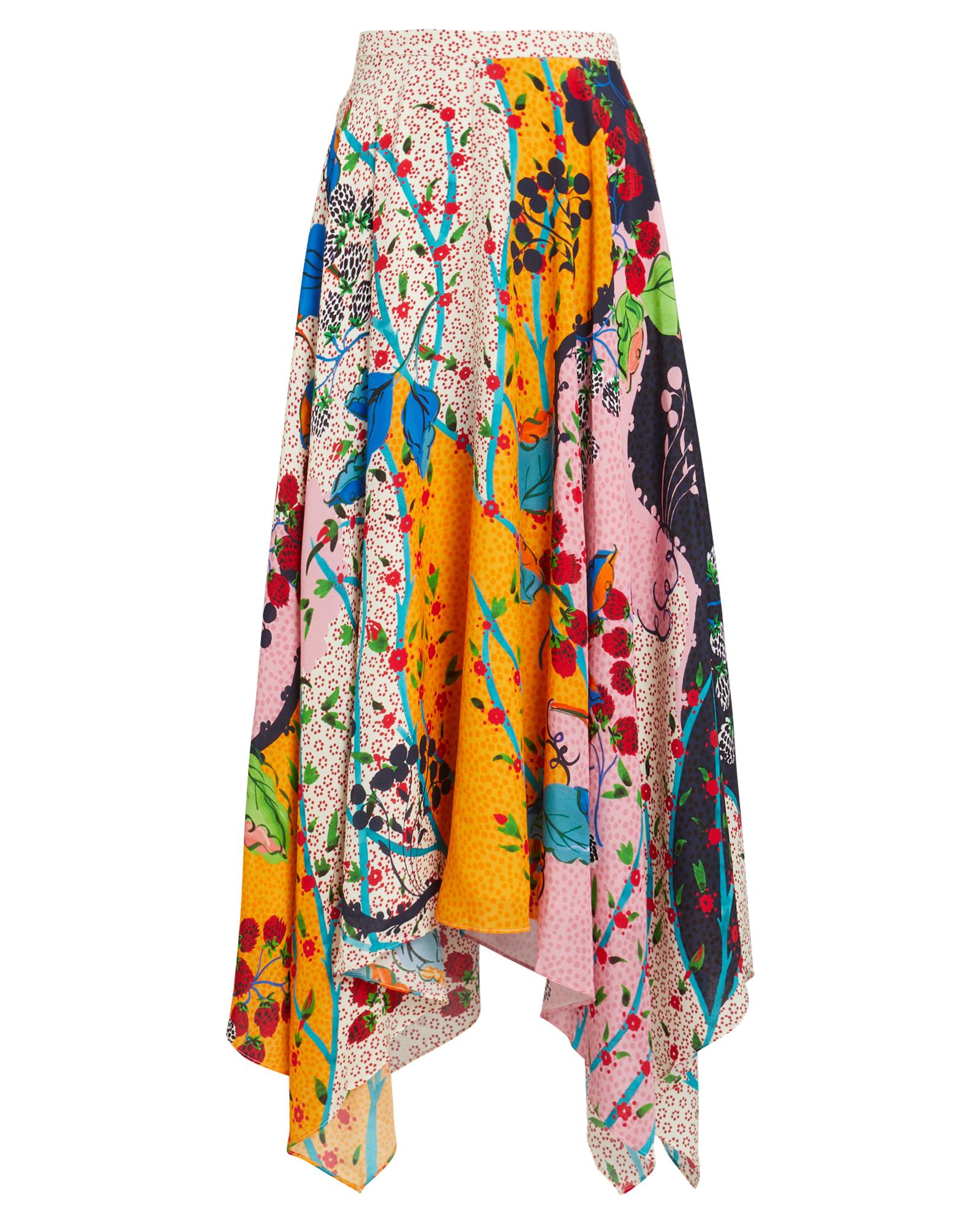 Freja Silk Floral Skirt by Saloni