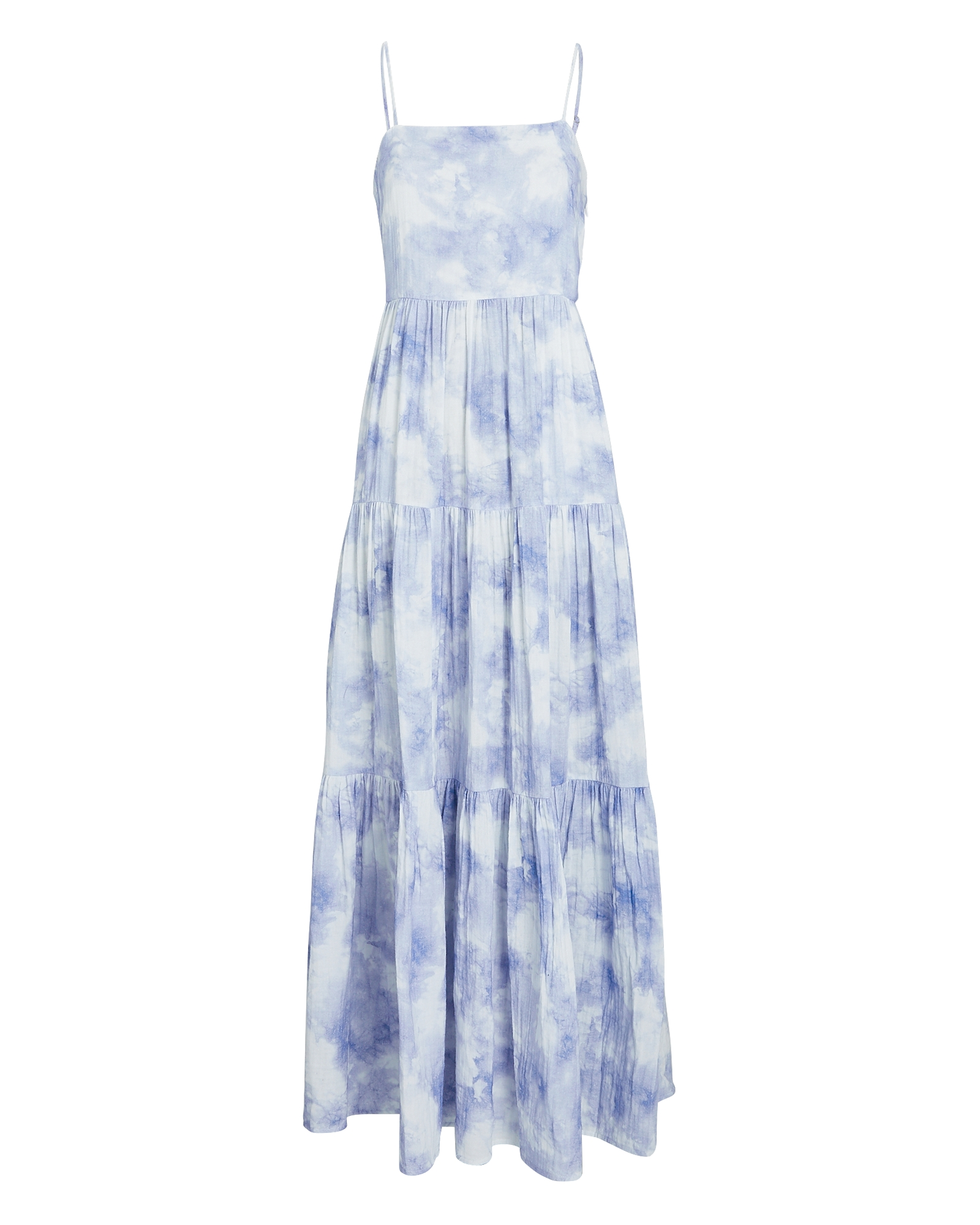 Jonathan Simkhai Cottons Clarissa Tie-Dye Gauze Maxi Dress