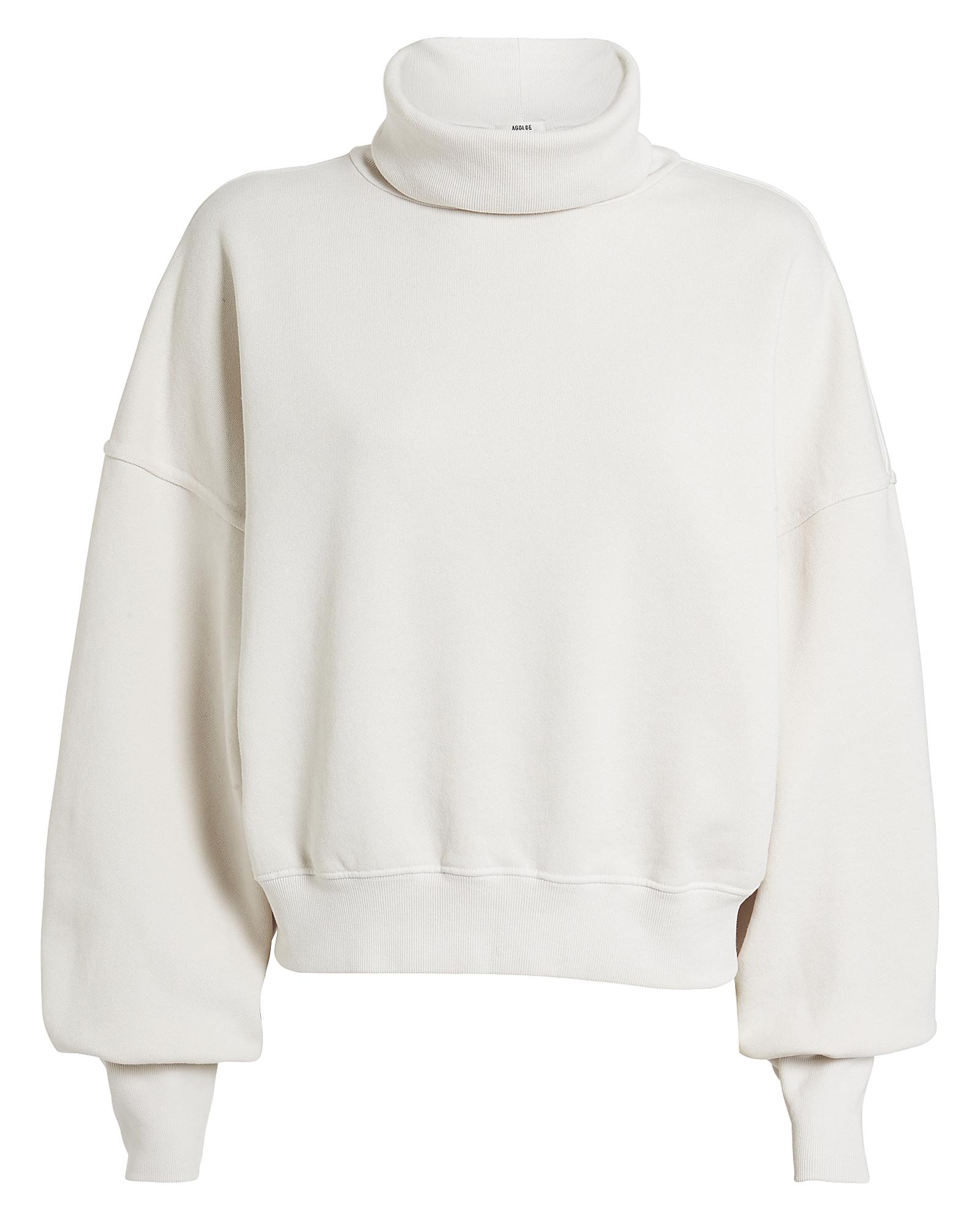 Agolde T-shirts AGOLDE BALLOON SLEEVE TURTLENECK SWEATSHIRT