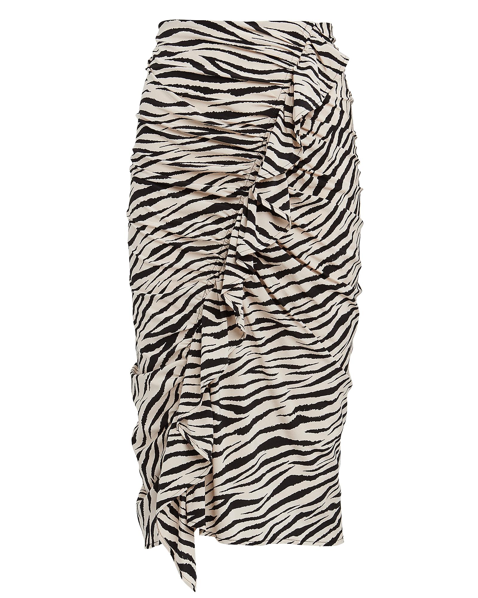 A.l.c Skirts Metz Ruffled Zebra Print Skirt