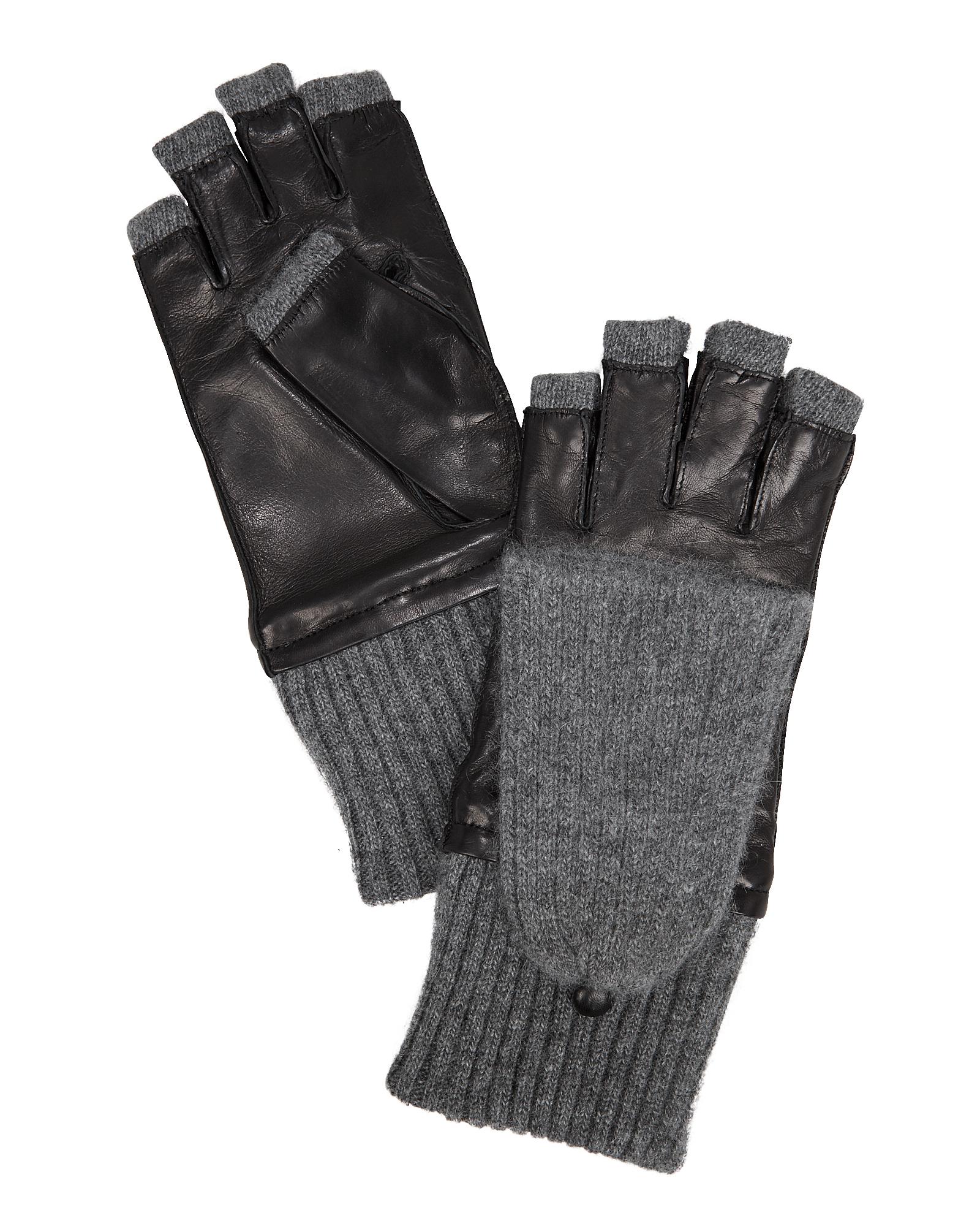 CAROLINA AMATO Pop Top Glove Black/Grey