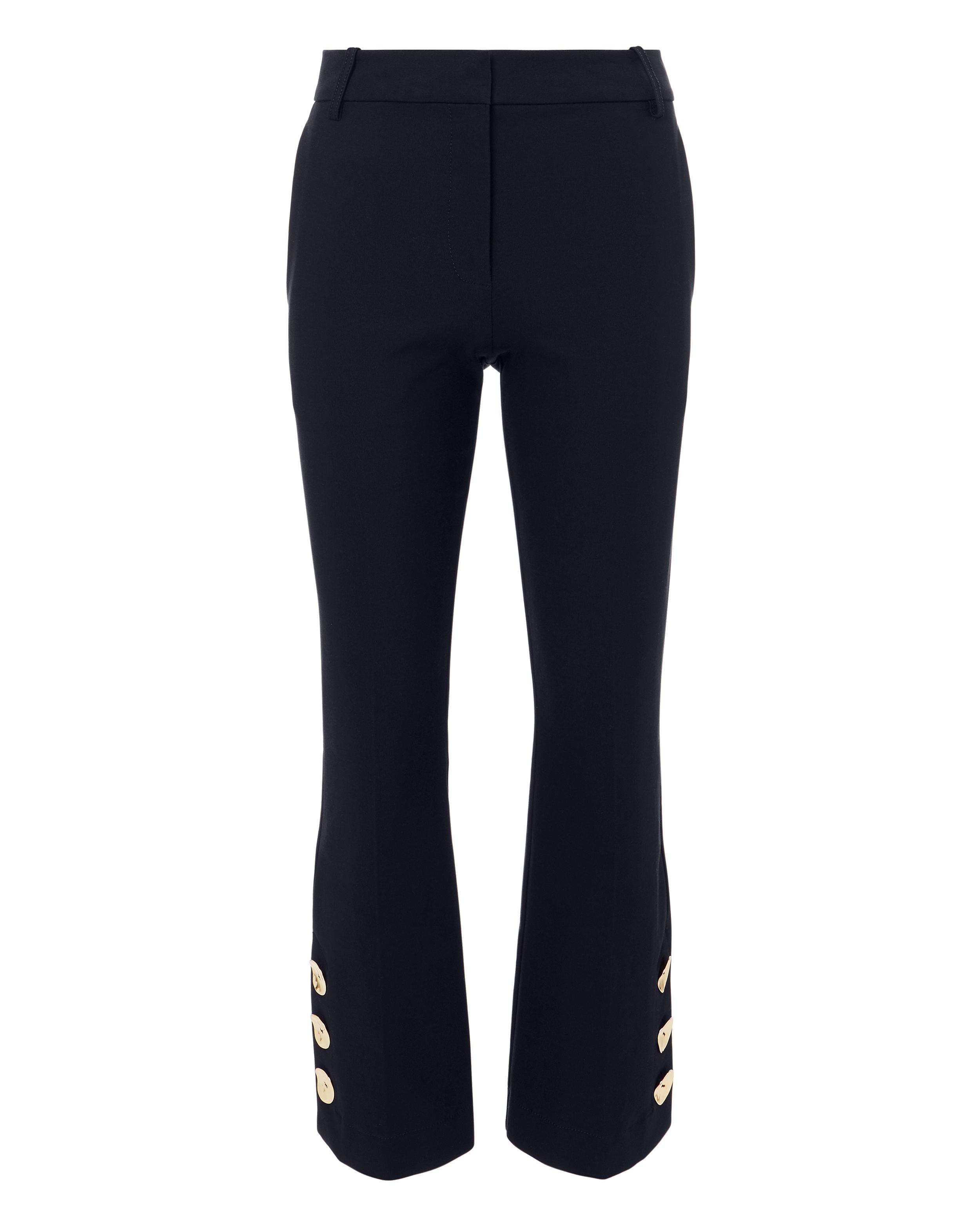 10 CROSBY Slit Hem Crop Flare Trousers