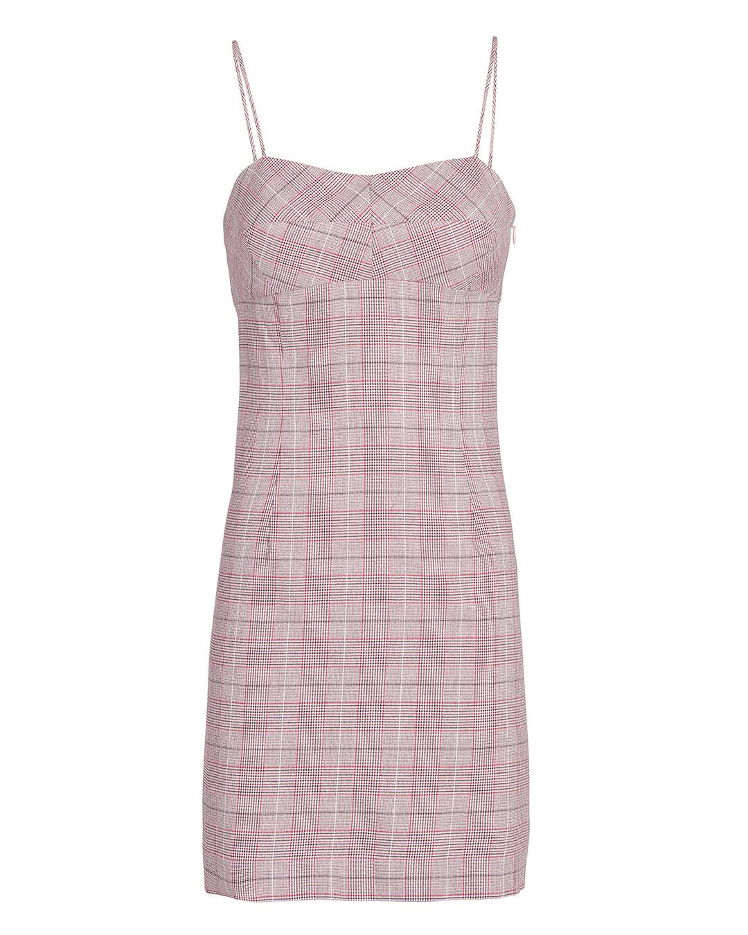 EXCLUSIVE FOR INTERMIX Roslyn Plaid Mini Dress