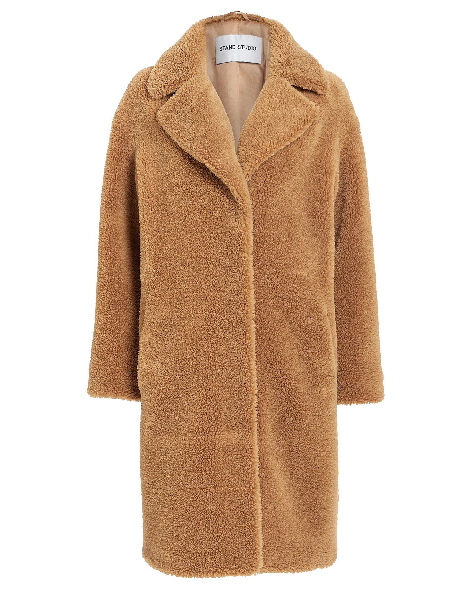 Stand Coats CAMILLE FAUX SHEARLING COCOON COAT