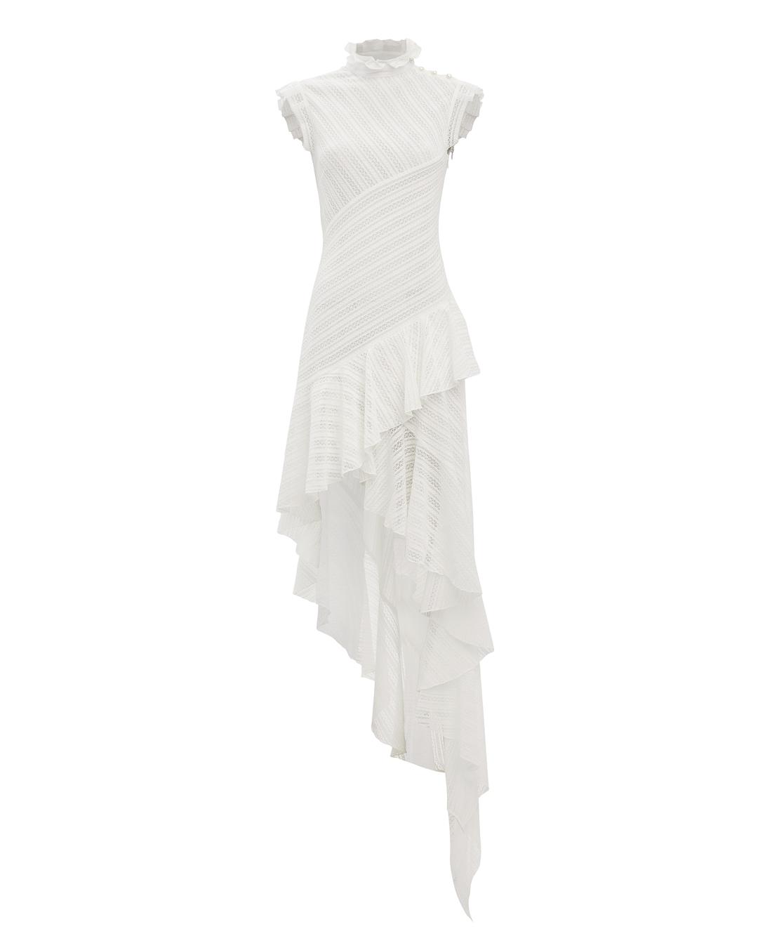 PHILOSOPHY DI L.SERAFINI Eyelet High-Low Dress