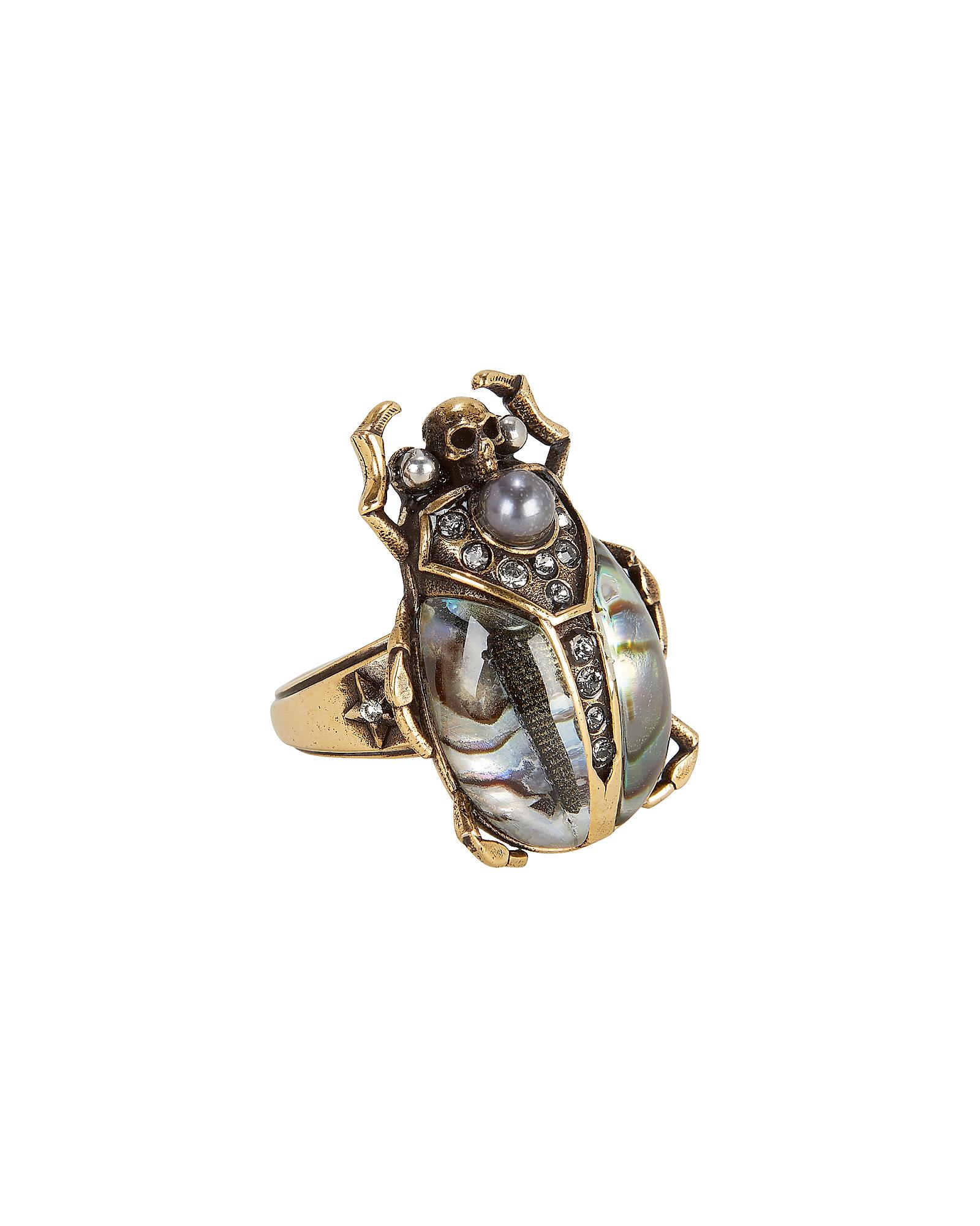 ALEXANDERMCQUEENJEWL Beetle Metallic Ring