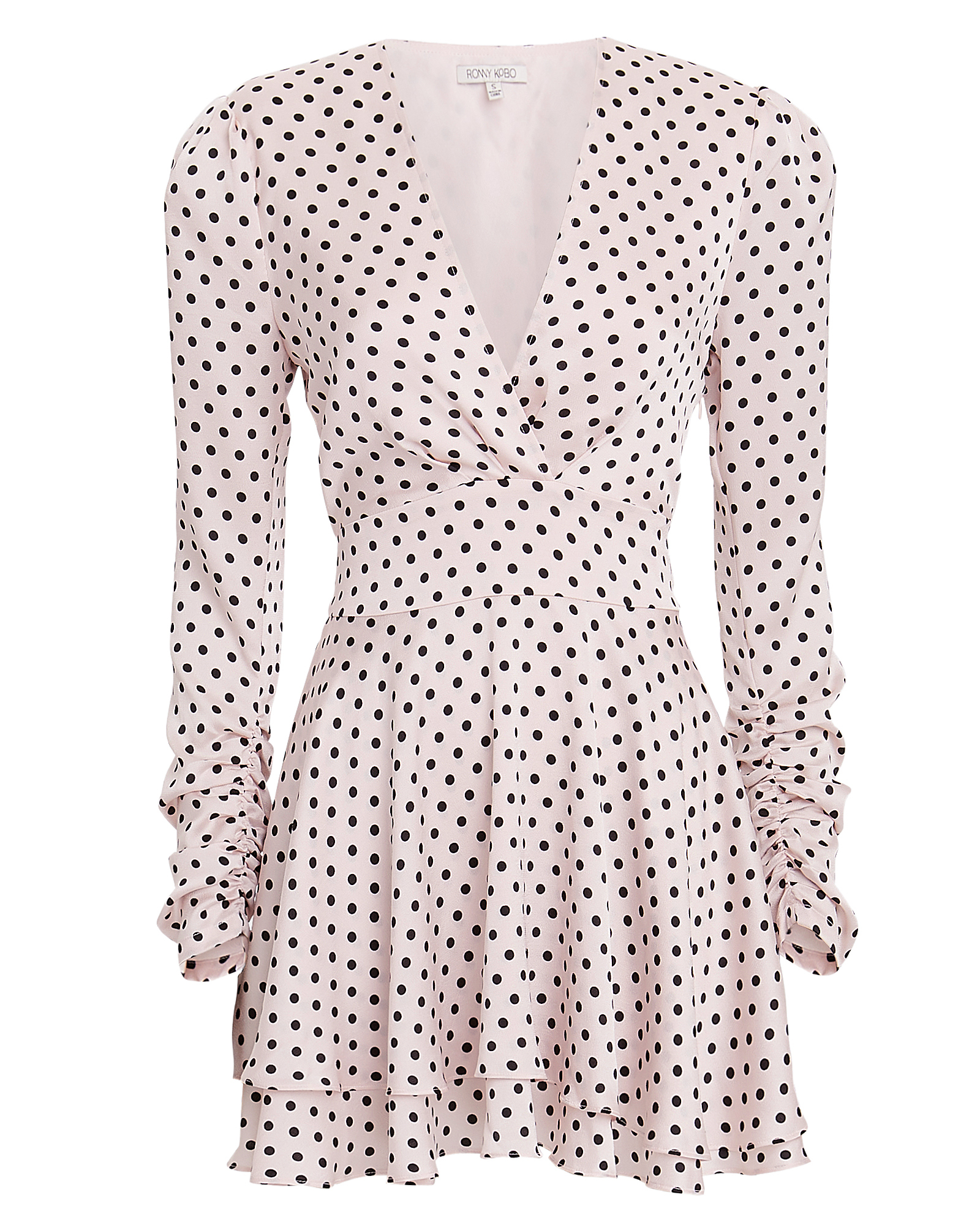 TORN Ronny Kobo Kallow Polka Dot Mini Dress Pink/Black
