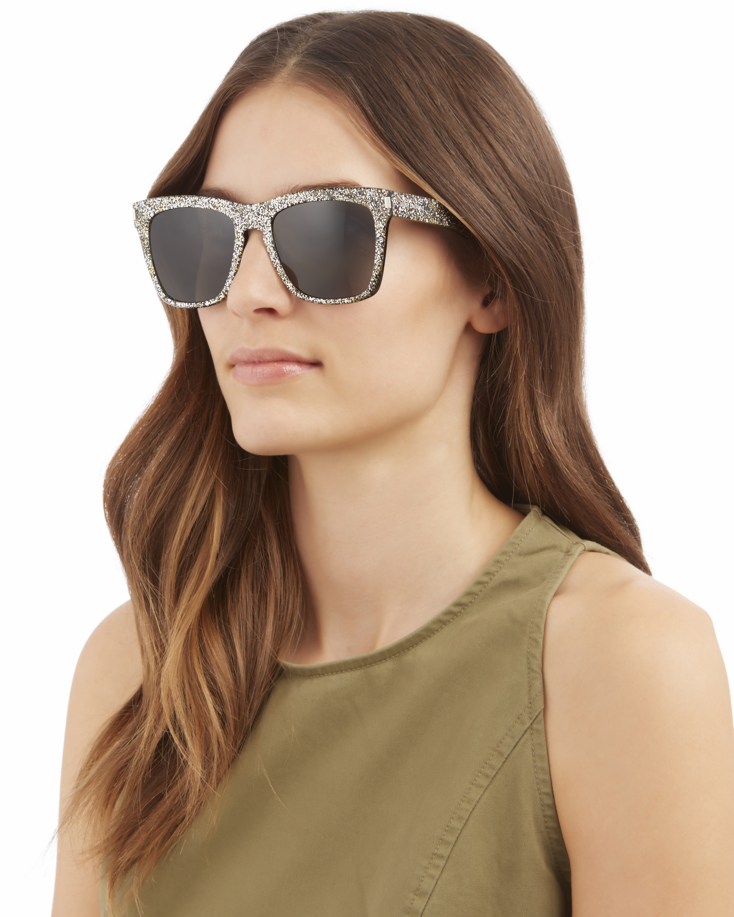 a9d5c2f334 Saint Laurent Devon Glitter Sunglasses