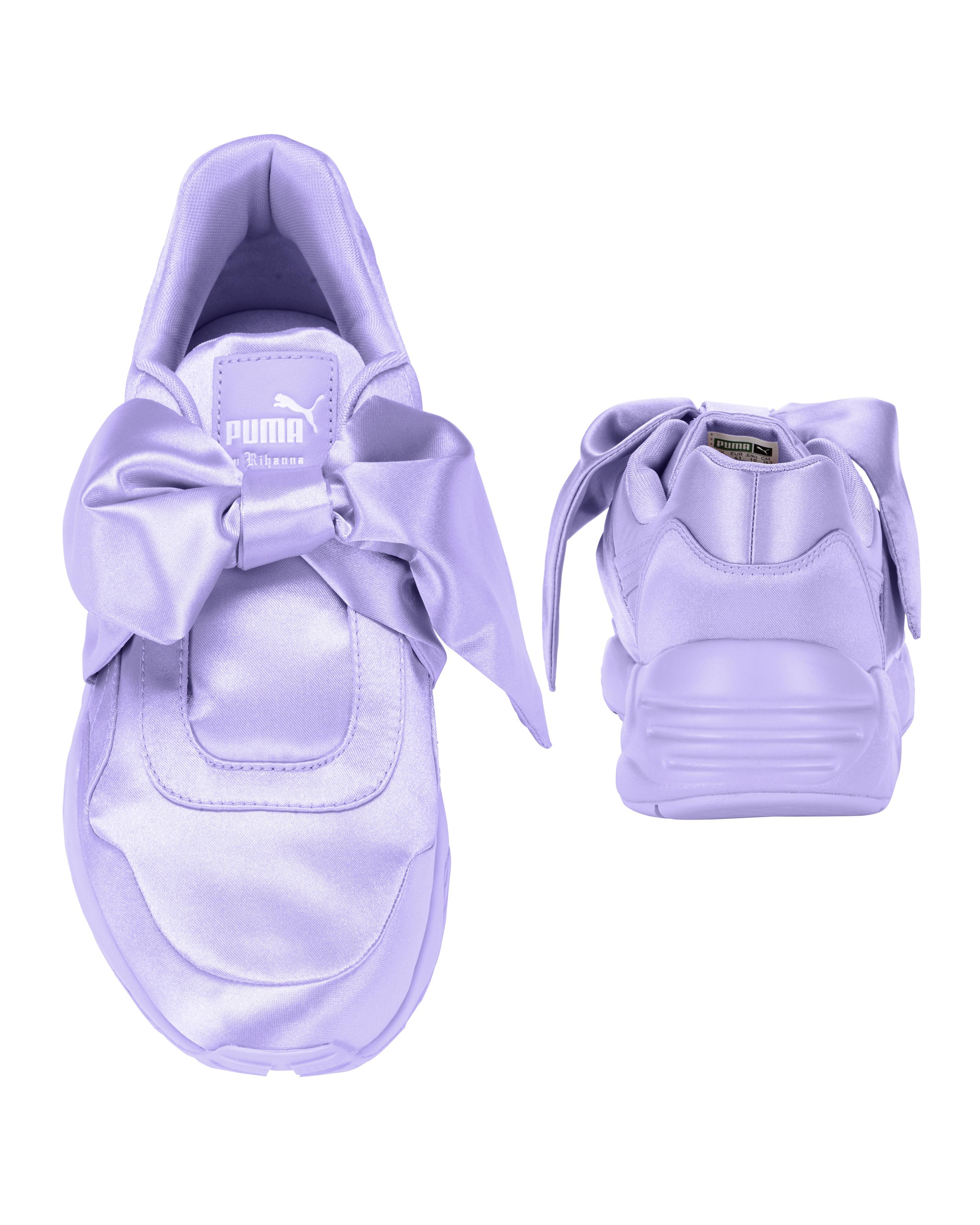 los angeles 976d9 d98ee PUMA X FENTY by Rihanna Lavender Bow Sneakers - INTERMIX®