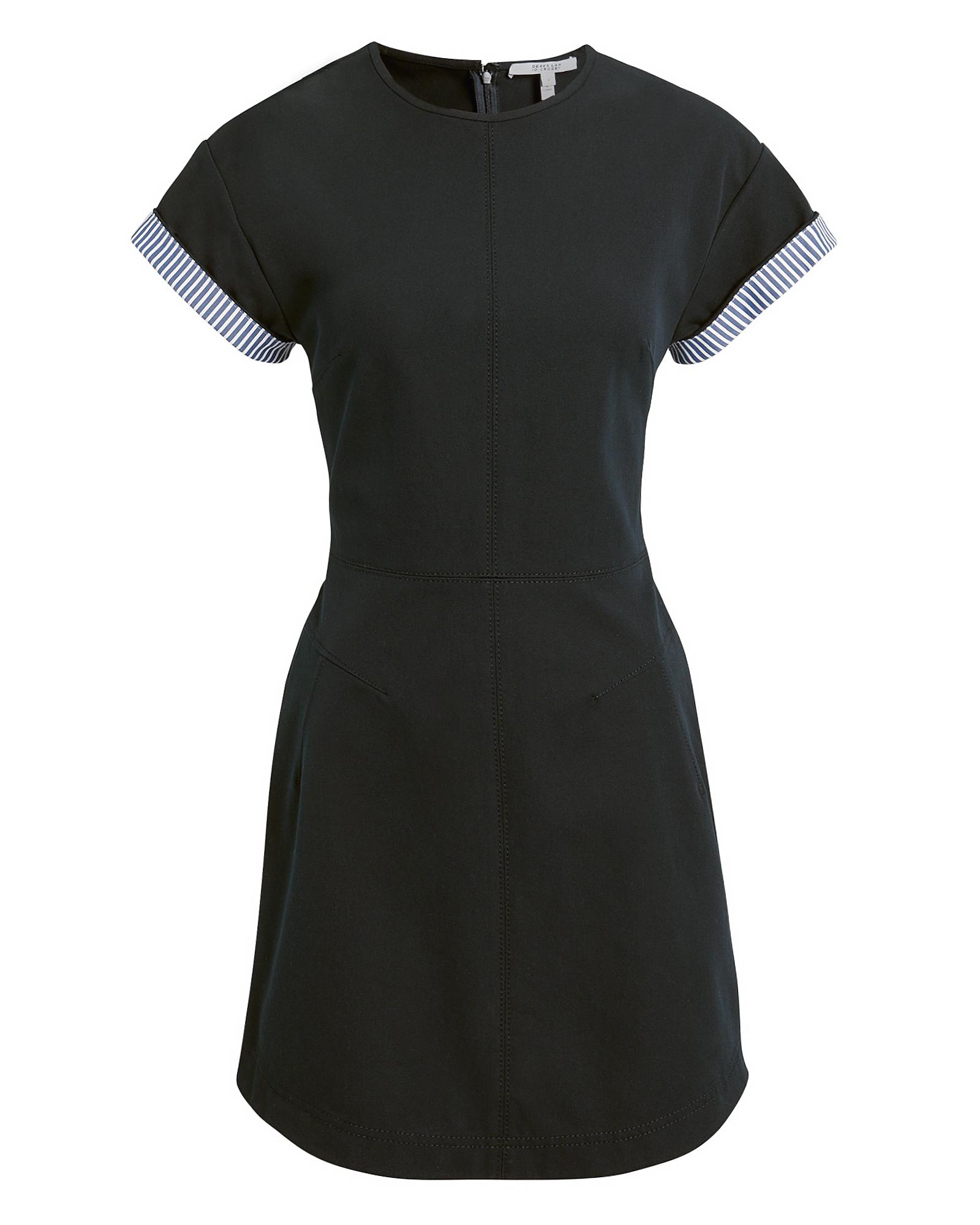 10 CROSBY Striped Sleeve Mini Dress