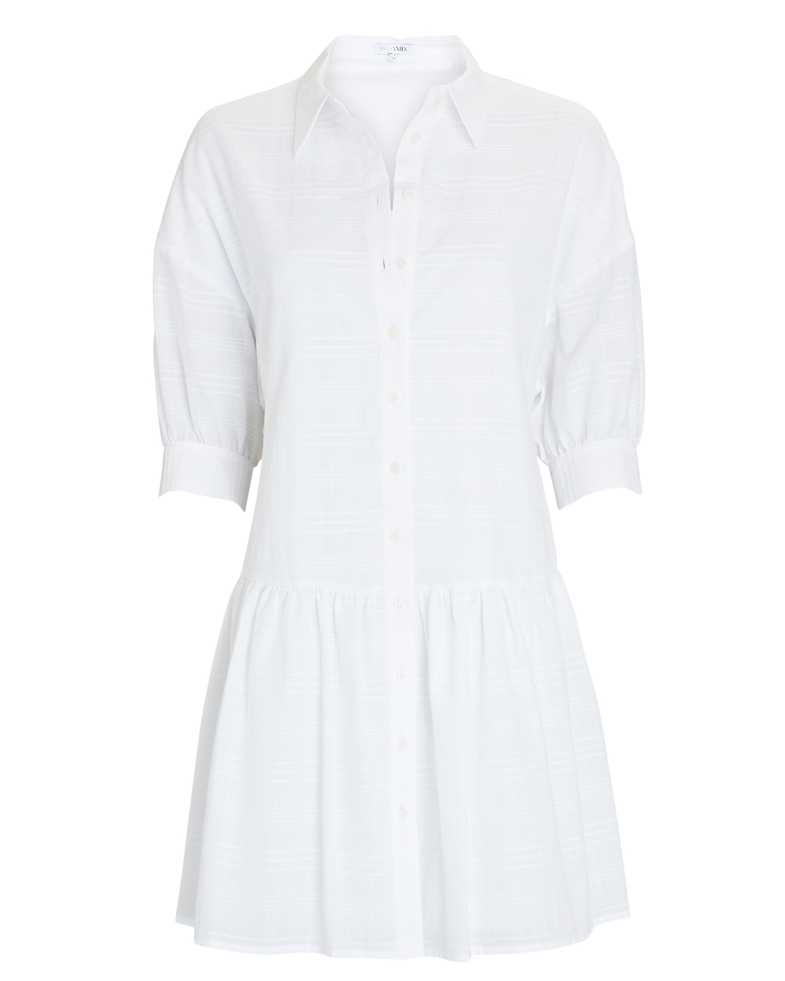Noelle Cotton Mini Shirt Dress