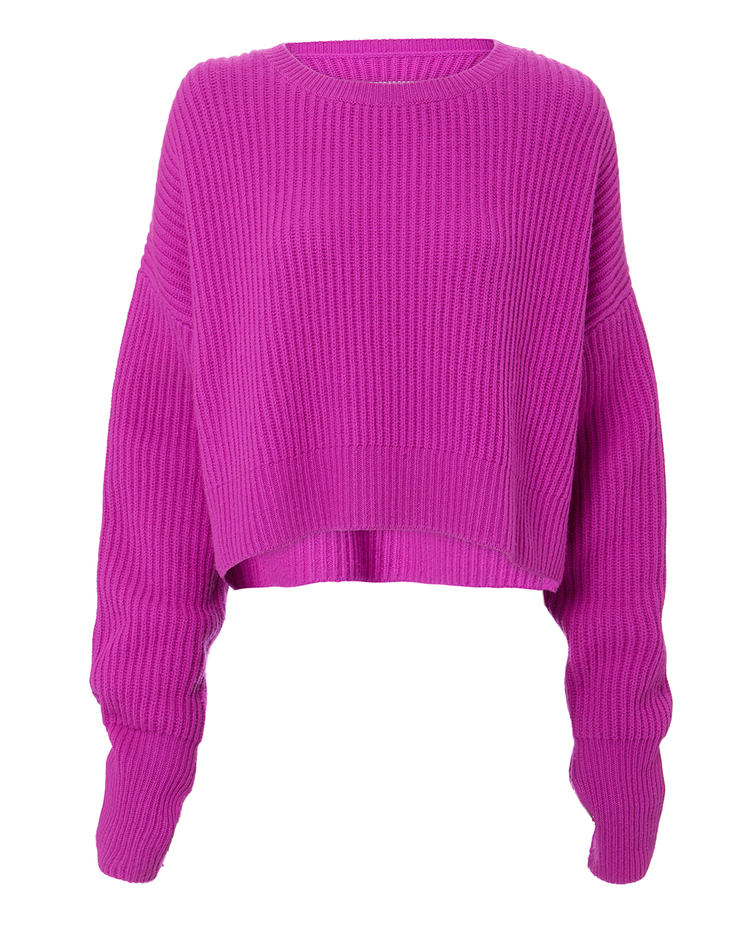 RE/DONE CASHERE CROP SWEATER PINK-DRK