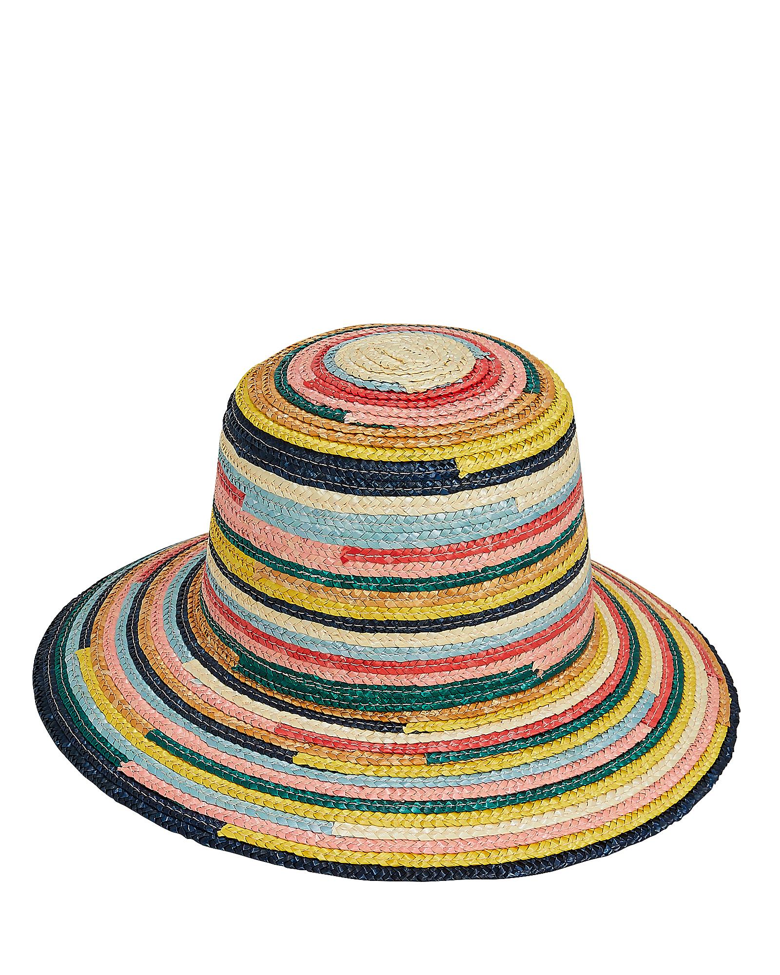 EUGENIA KIM Stevie Straw Hat - Pink in Multi