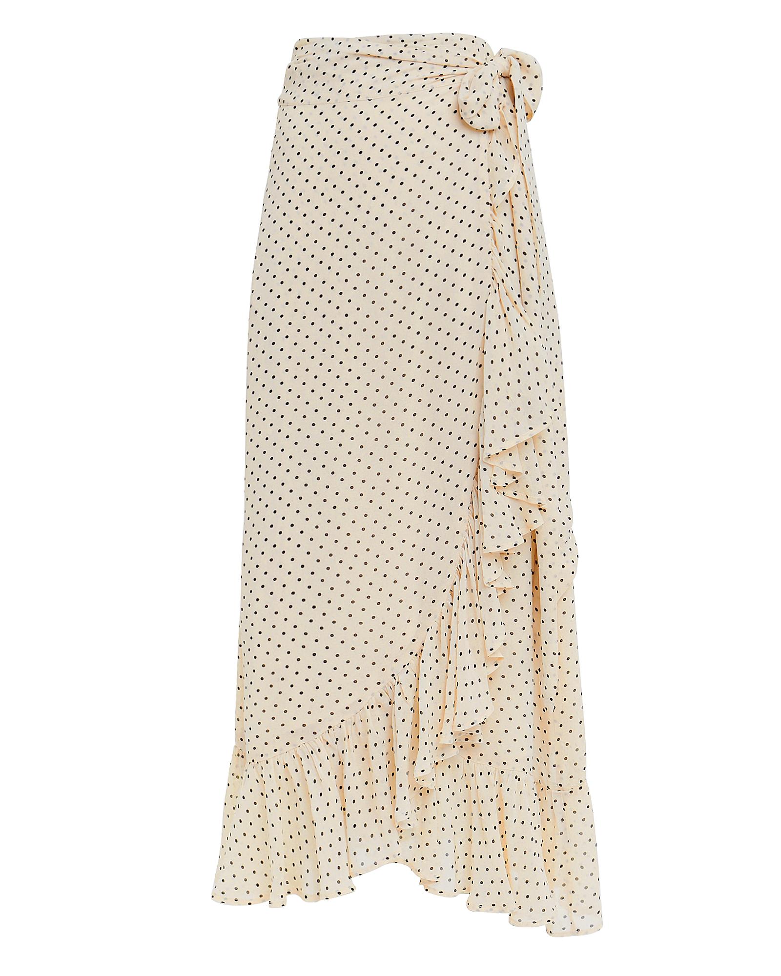 Ganni Skirts Printed Georgette Wrap Skirt