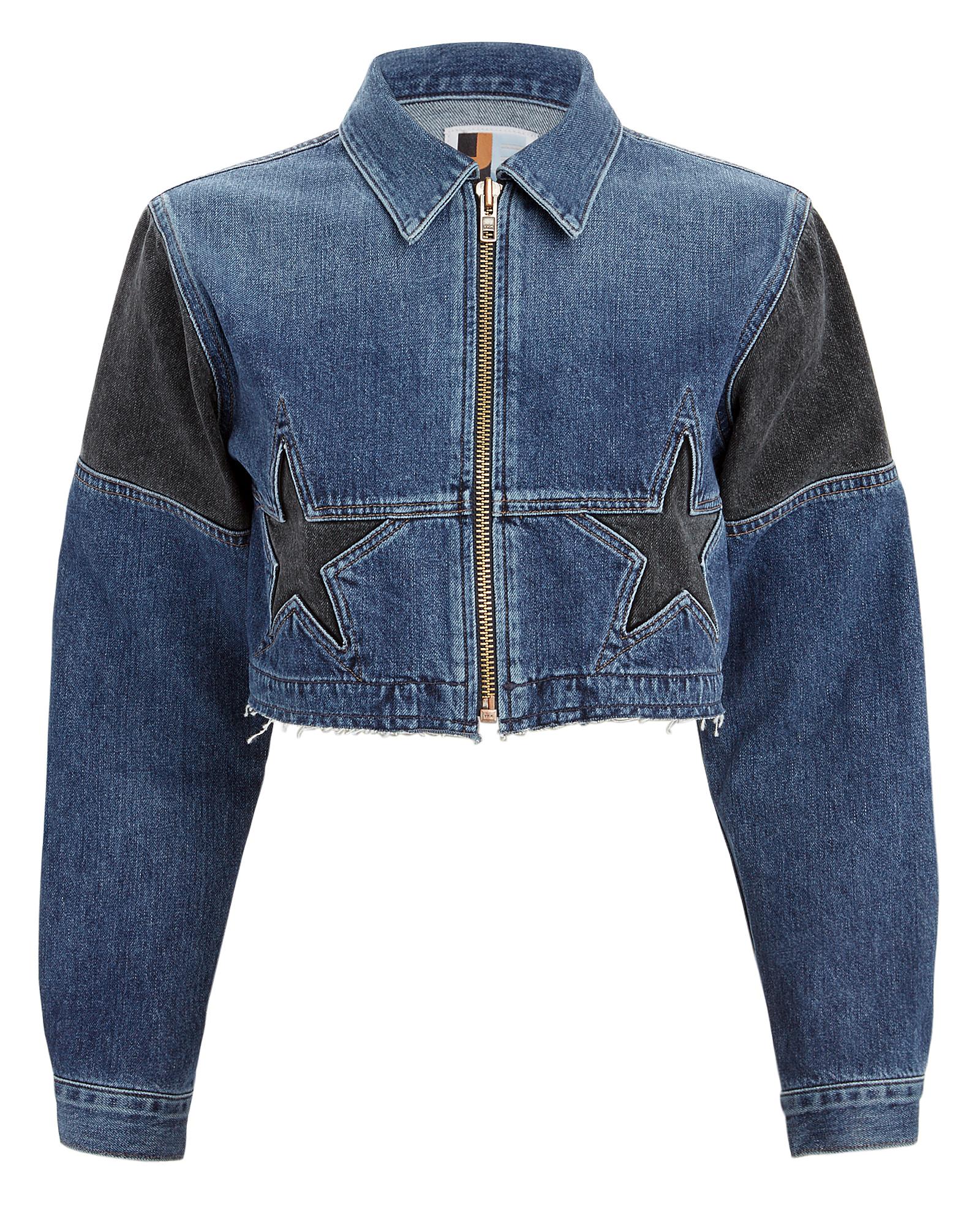 JEAN ATELIER Toni Croed Denim Jacket Blue/Black Denim in Stellar
