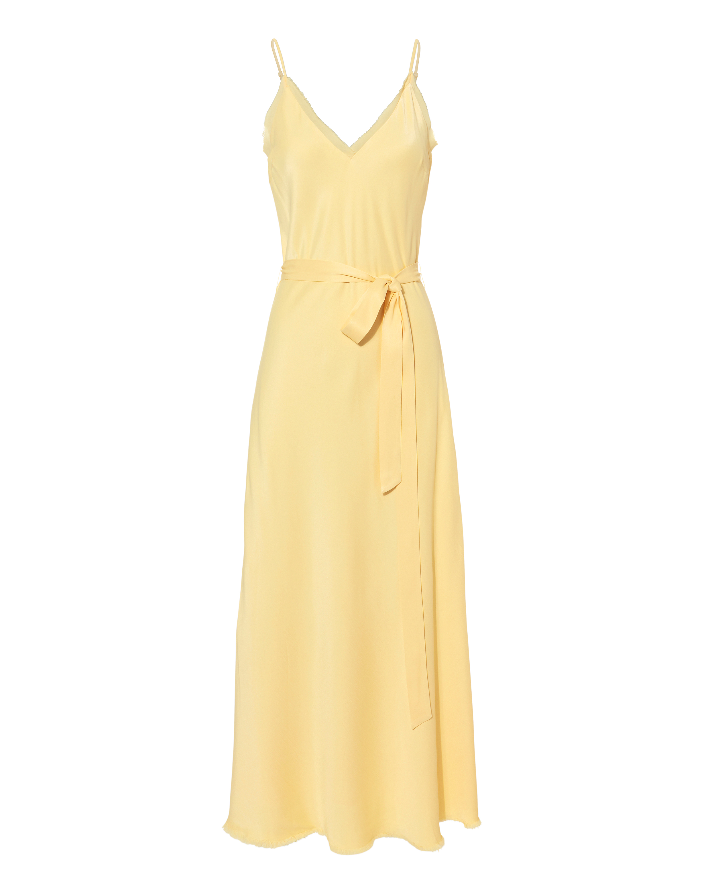 Satin Tie Slip Dress by Frame
