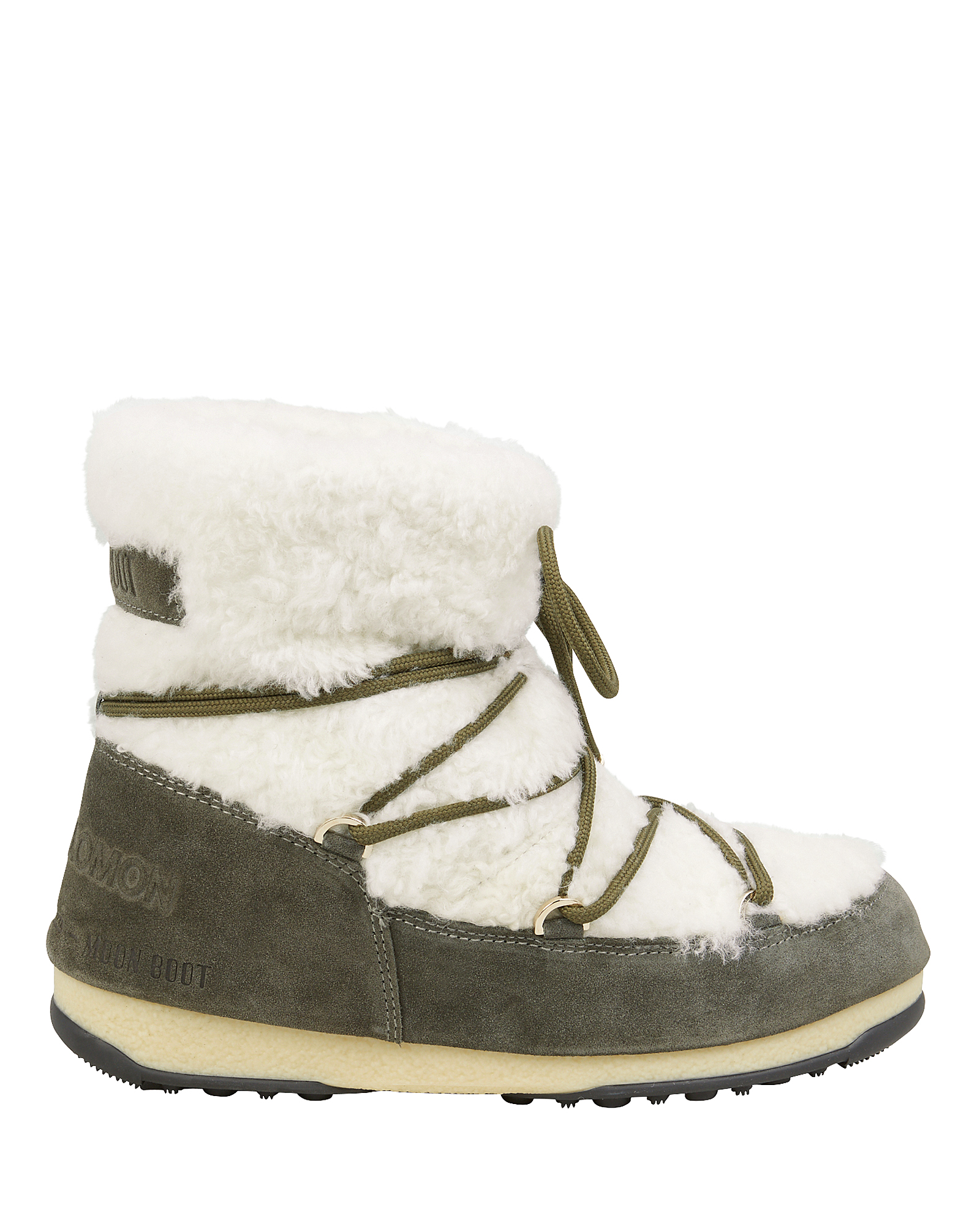 Yves Salomon Shearling And Suede Moon Boots