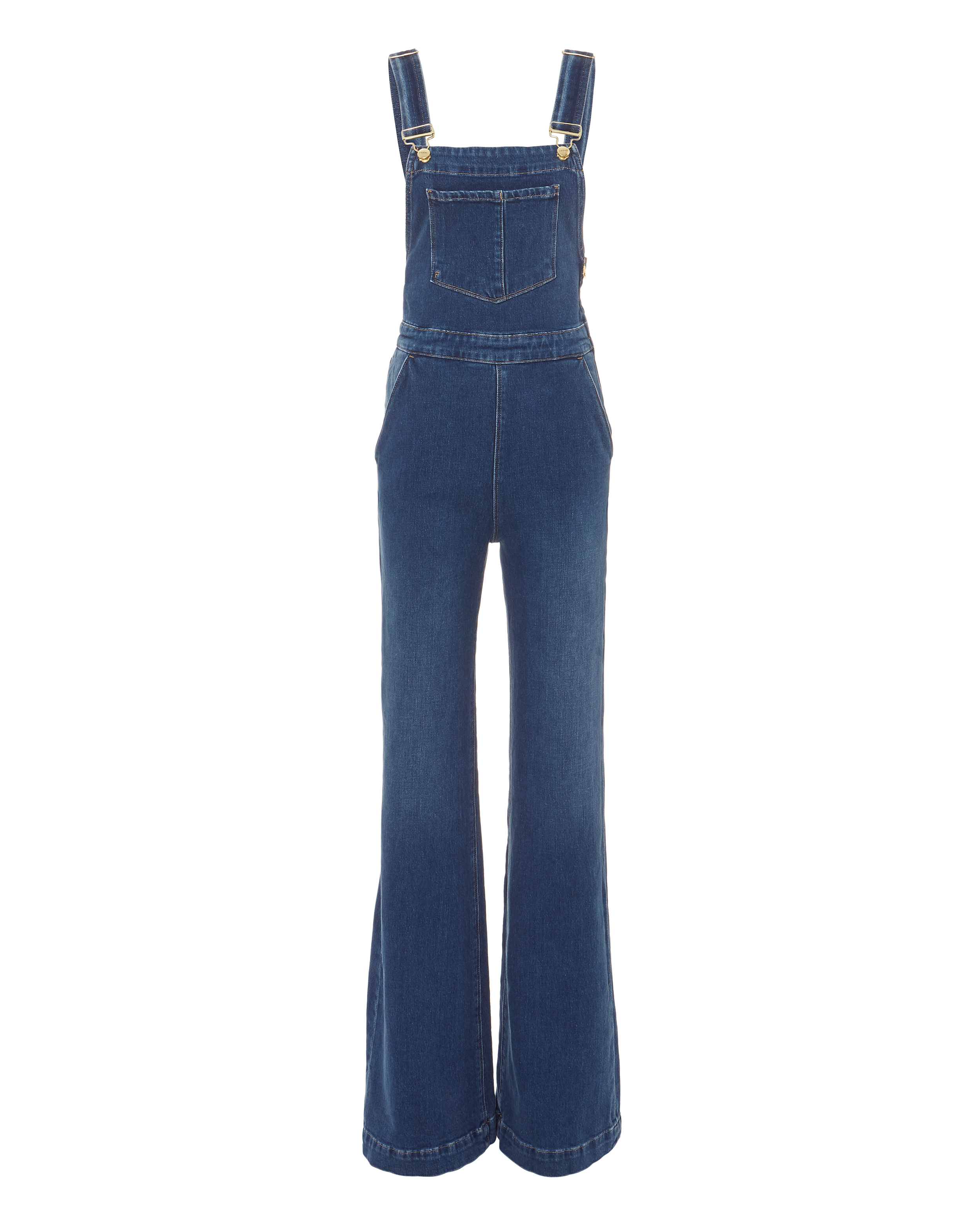 d5f115abc71 Frame Palazzo Wide Leg Denim Overalls In Longwater
