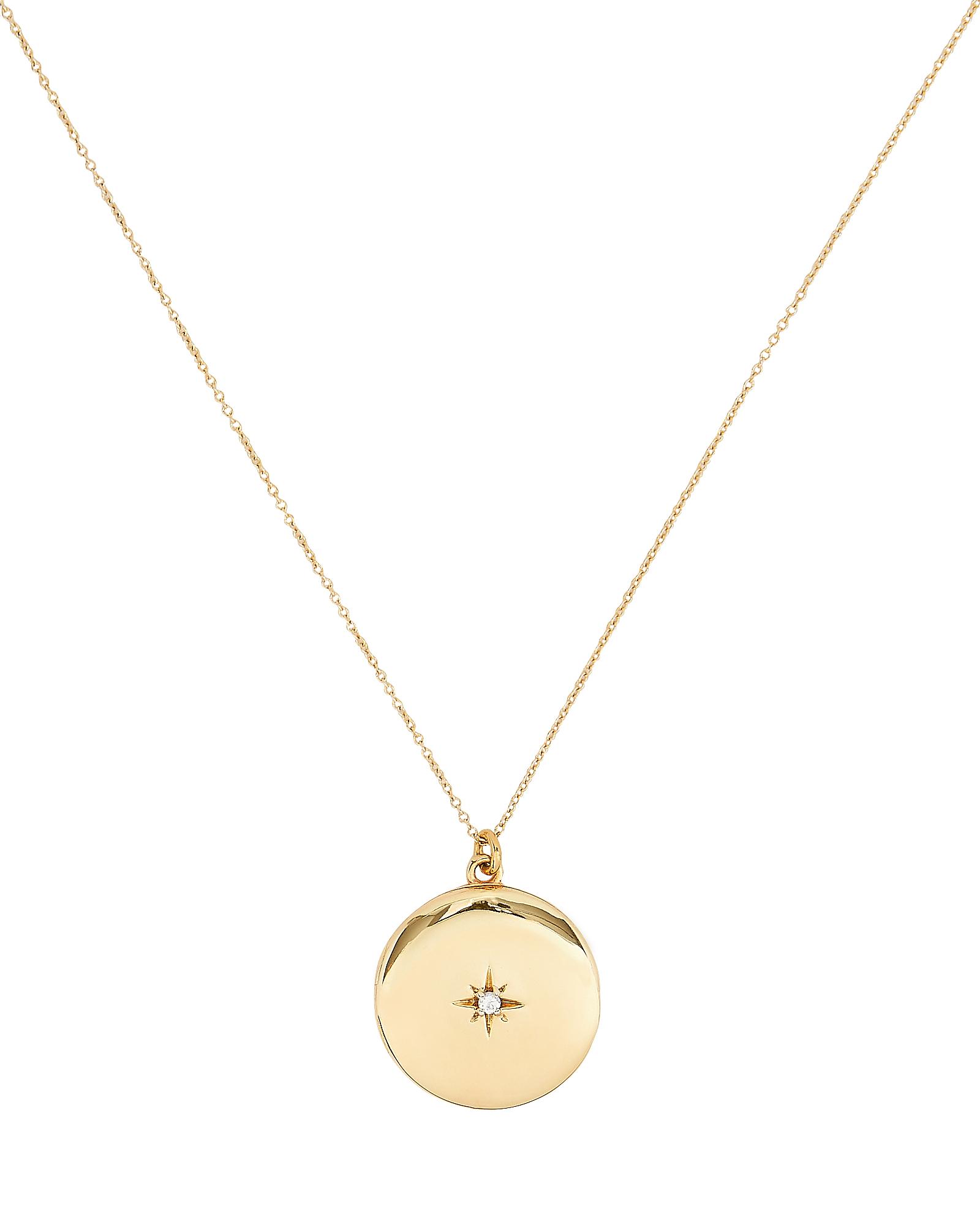 SASHA SAMUEL Maxine Round Locket Necklace