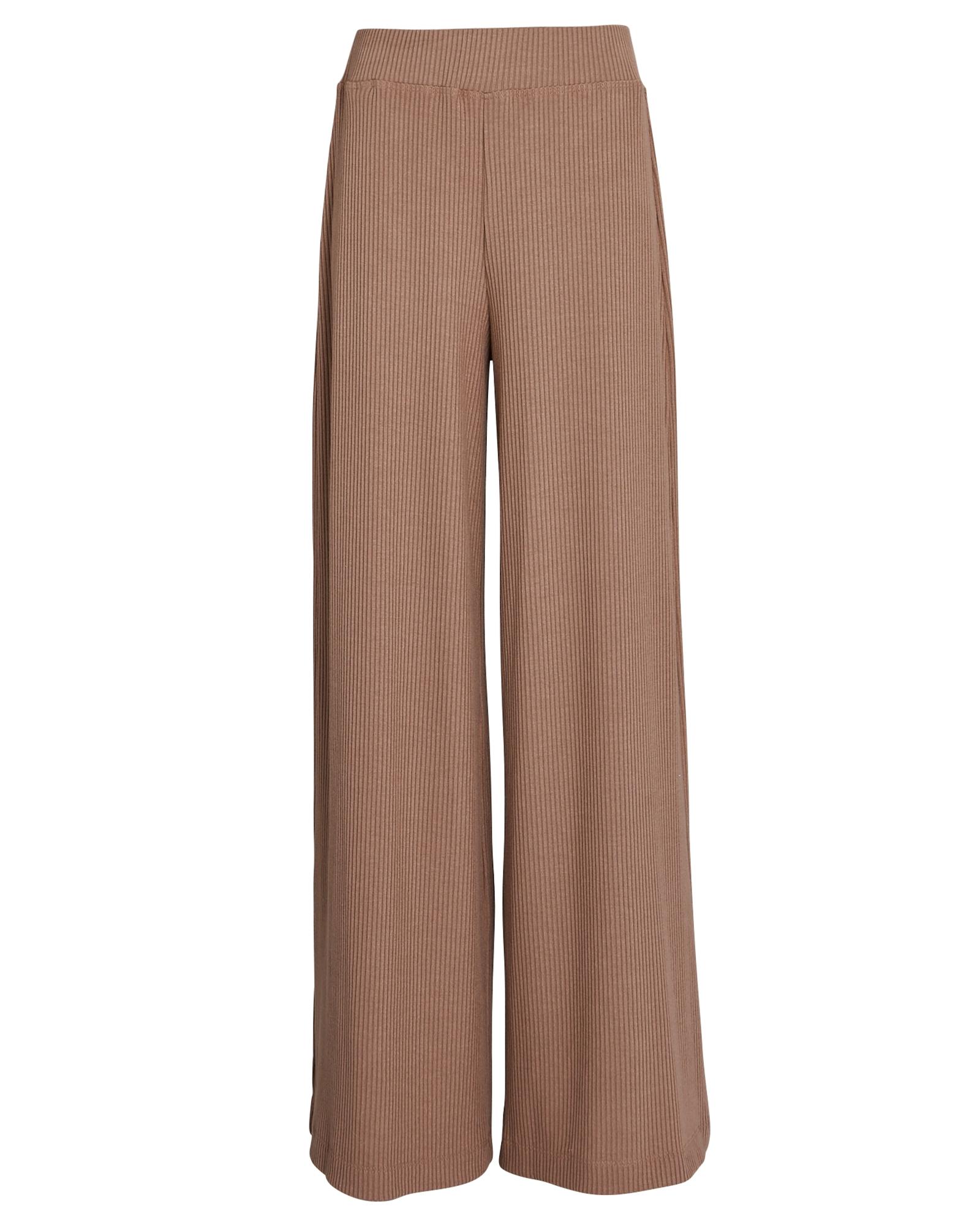 L Agence The Crawford Rib Knit Wide-Leg Pants