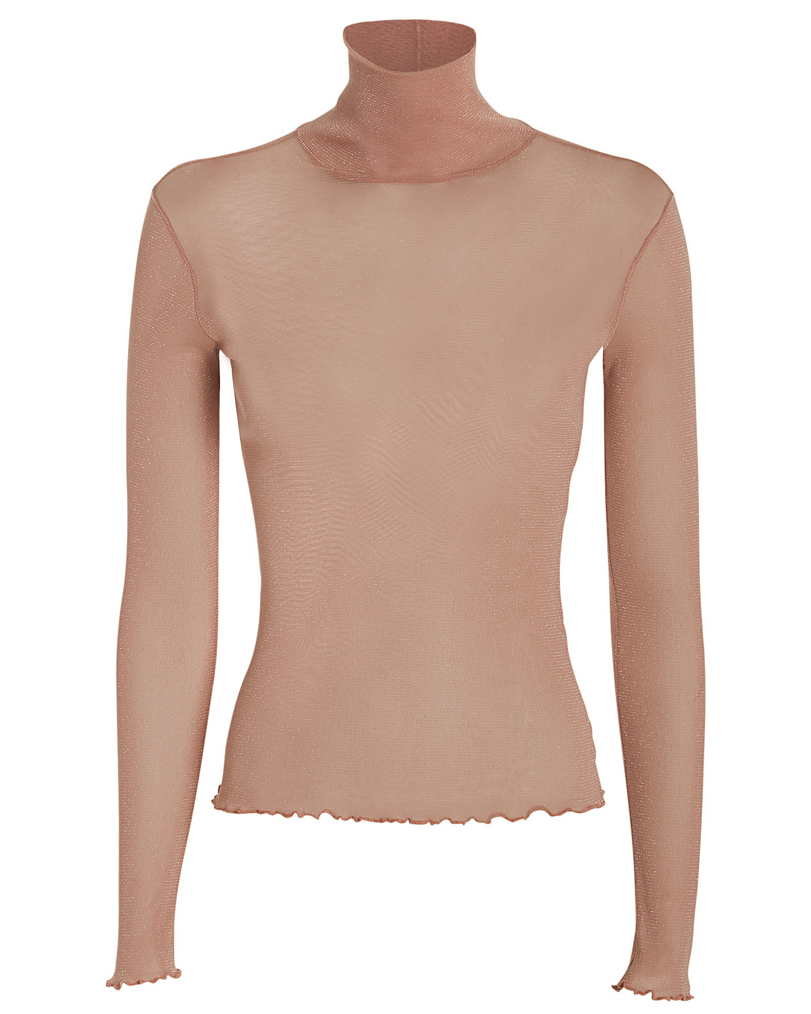 Shimmer Tulle Turtleneck Top by Jonathan Simkhai