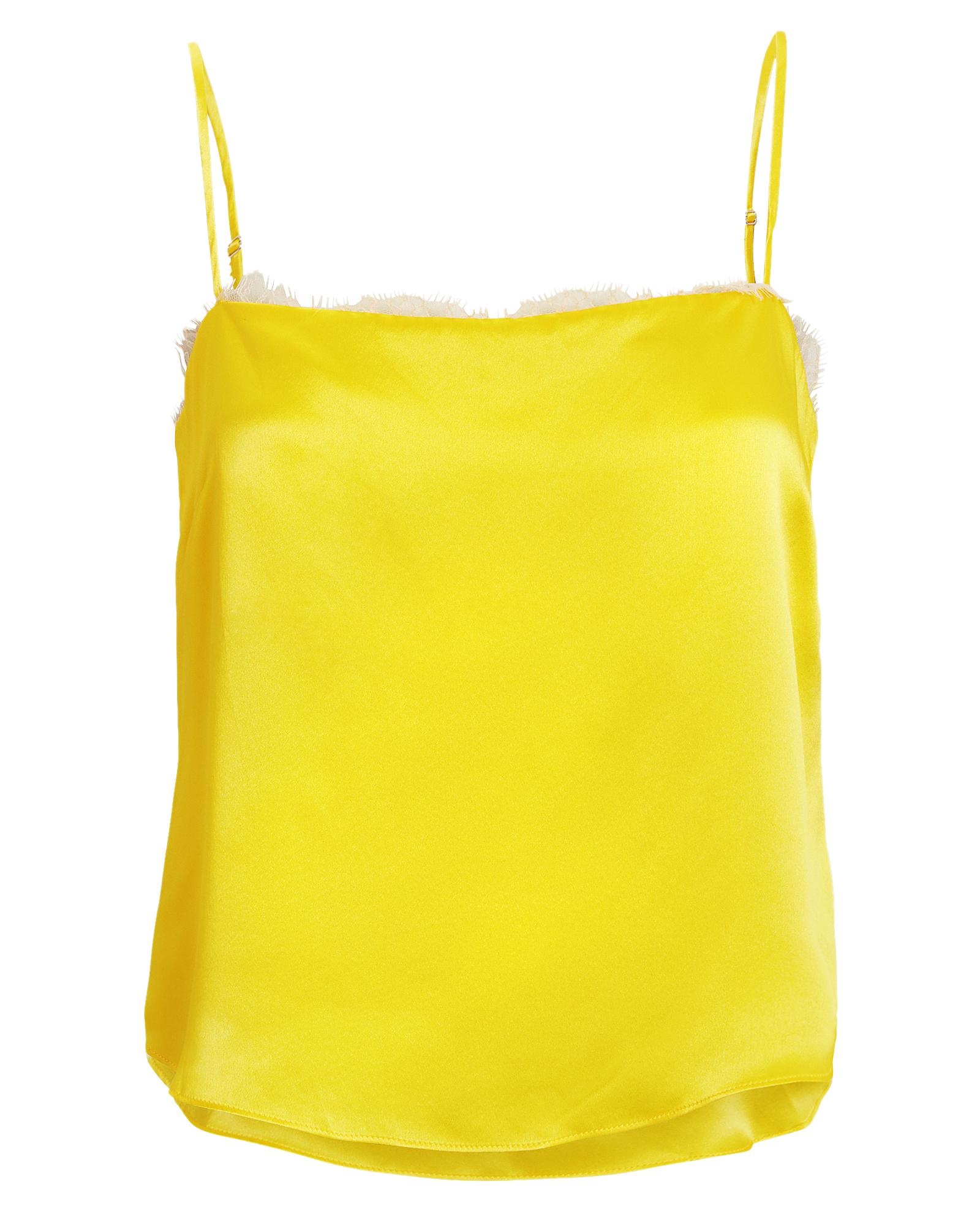 Fleur Du Mal Lace Trim Yellow Cami
