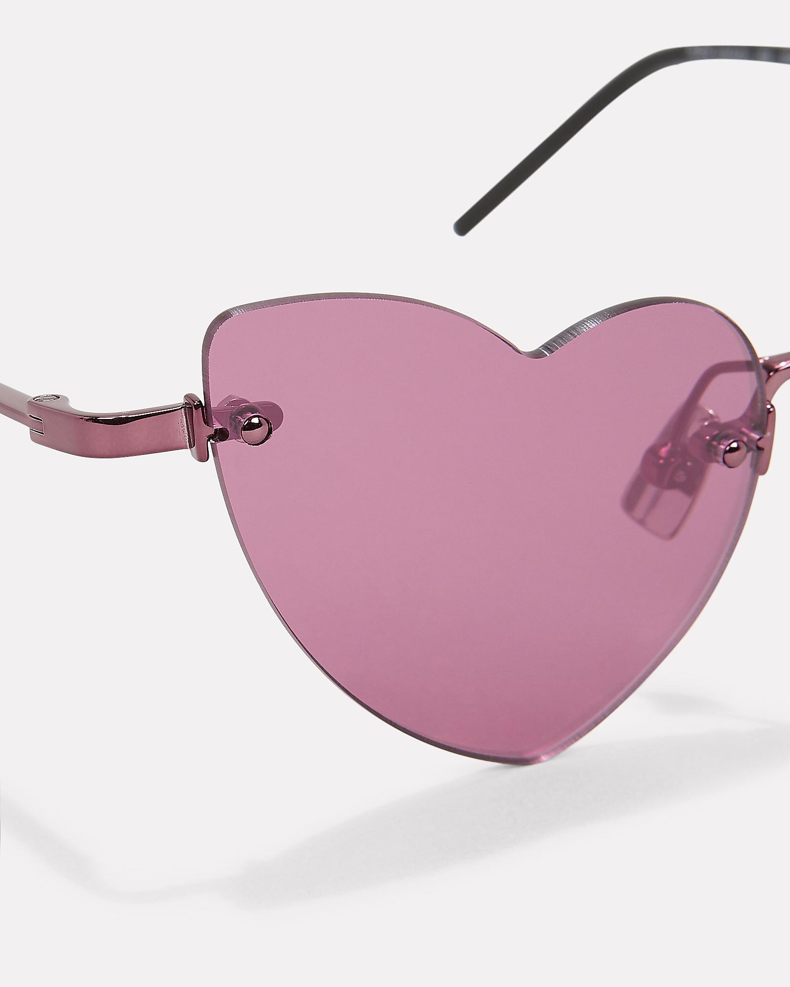 38cfc4a1b7 ... Loulou Rimless Heart Sunglasses