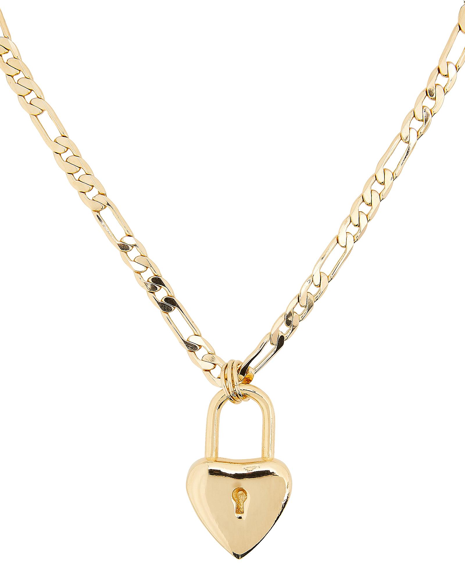 LARUICCI Heart Padlock Necklace