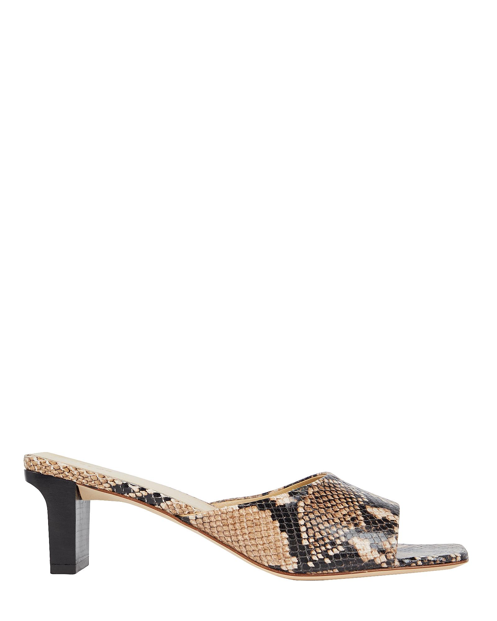 Aeyde Katti Embossed Slide Sandals