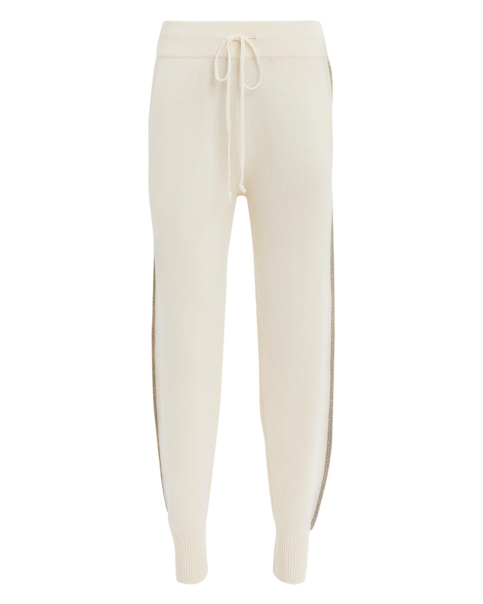 10 Crosby Lurex Jogger Ivory Sweatpants