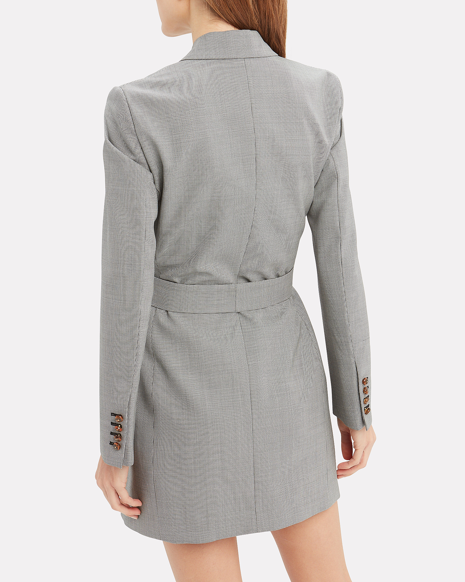 ec35629110 ... Sunshine Micro Check Blazer Dress, GREY, hi-res ...