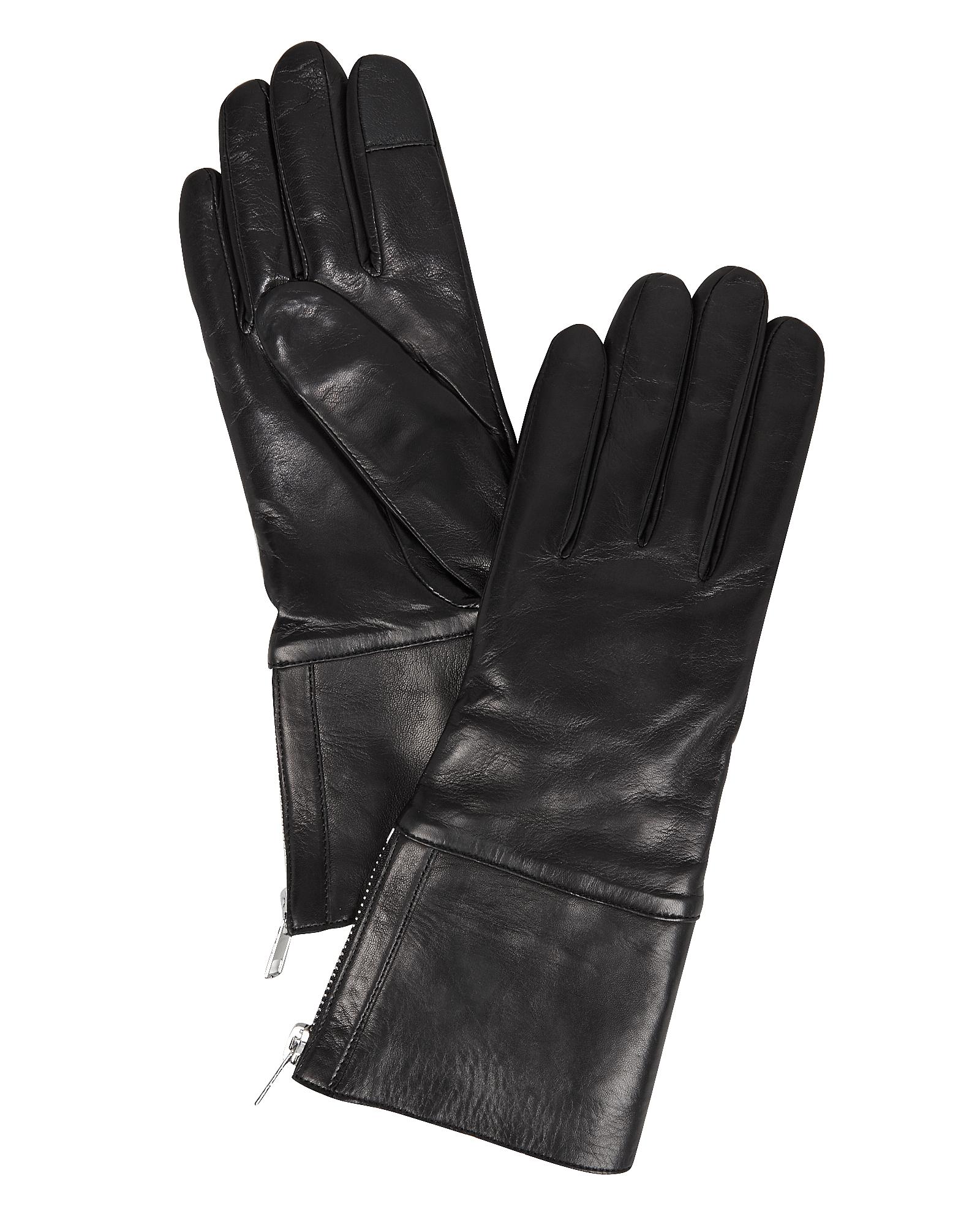CAROLINA AMATO Carolina Aato Side Zip Black Gloves Black