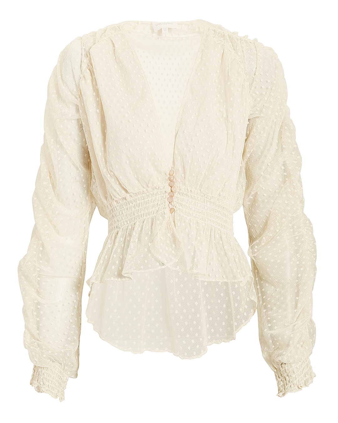 DEVINE HERITAGE Lace Ruched Top