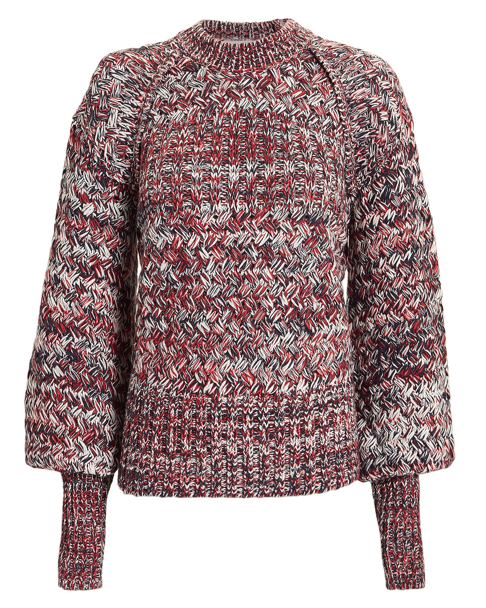 Self-Portrait Clothing Melange Crew Neck Sweater