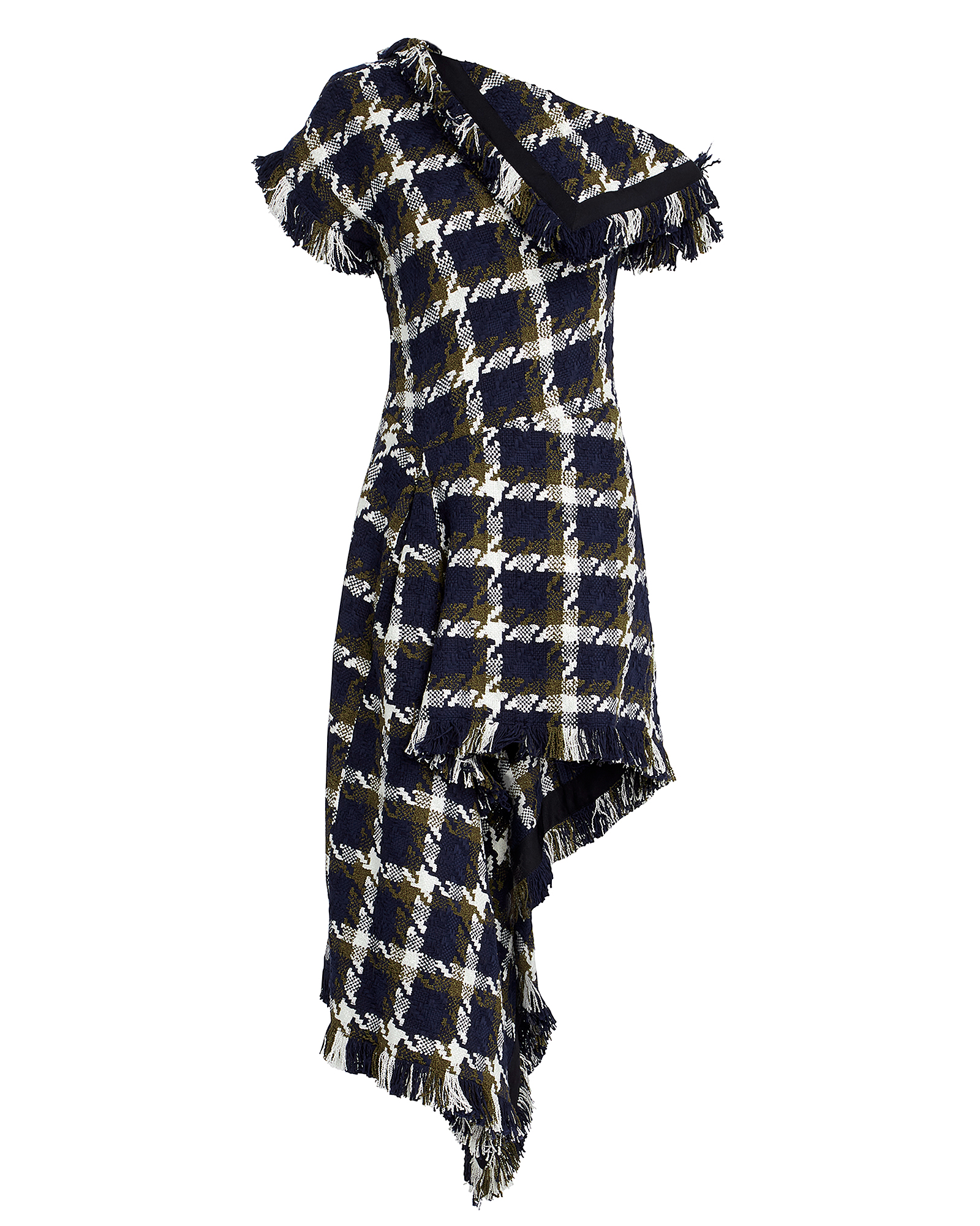 Monse Dresses MONSE ASYMMETRICAL TWEED DRESS  NAVY 4
