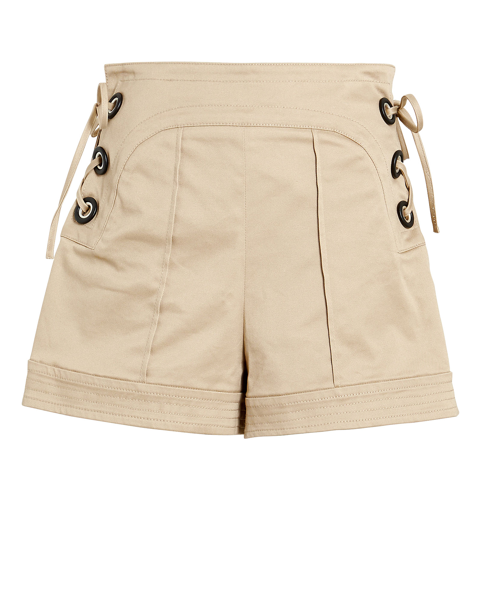 Alexis Shorts ALEXIS WINNICK LACE-UP TWILL SHORTS