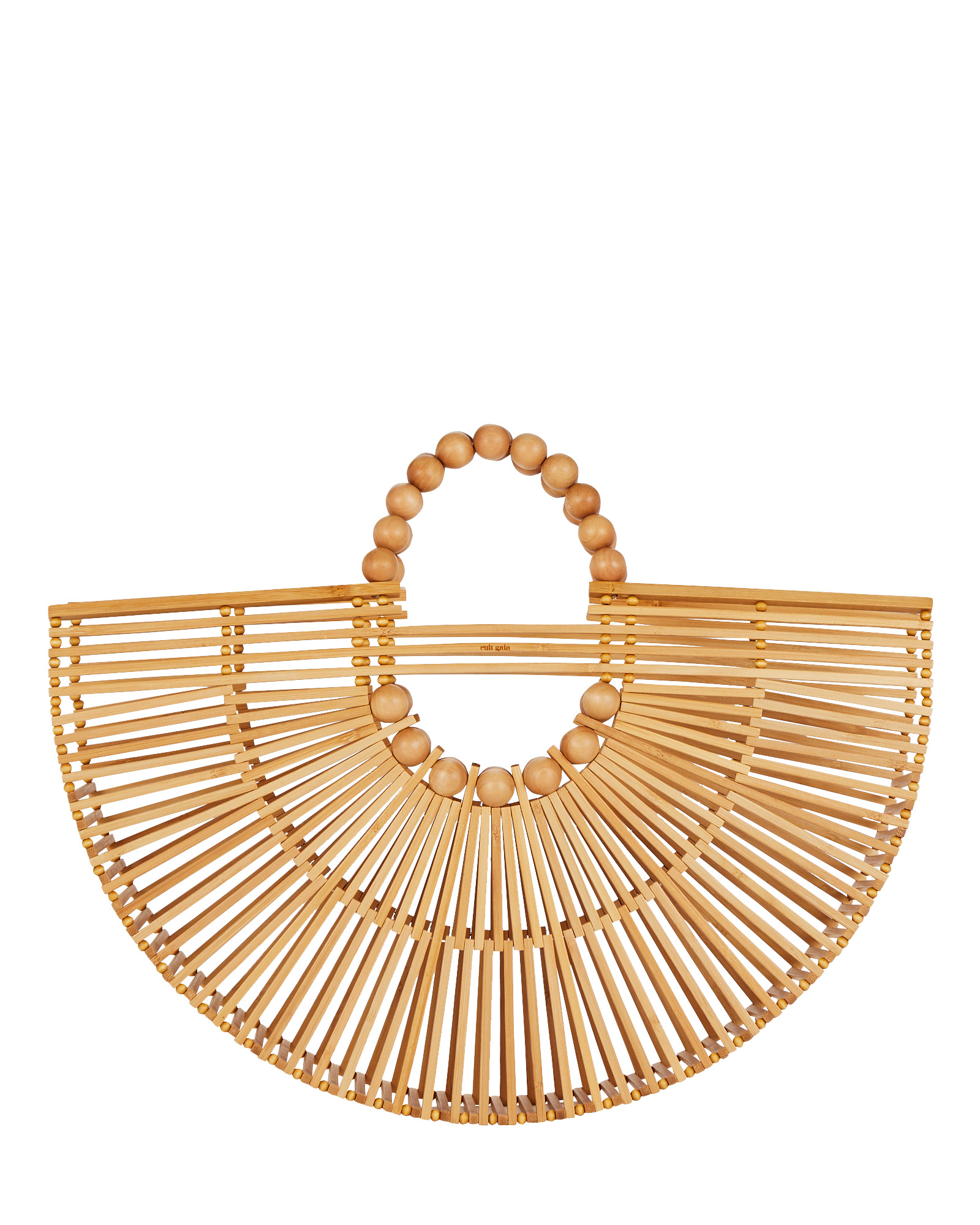 Cult Gaia Handbags Fan Ark Bamboo Tote Bag