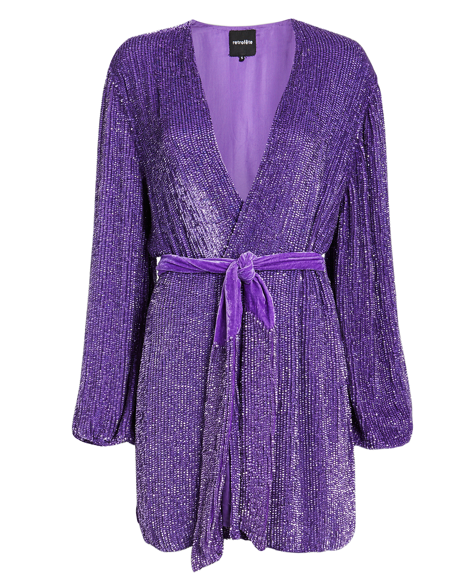Retroféte RETROFêTE GABRIELLE PURPLE SEQUIN MINI DRESS  PURPLE S