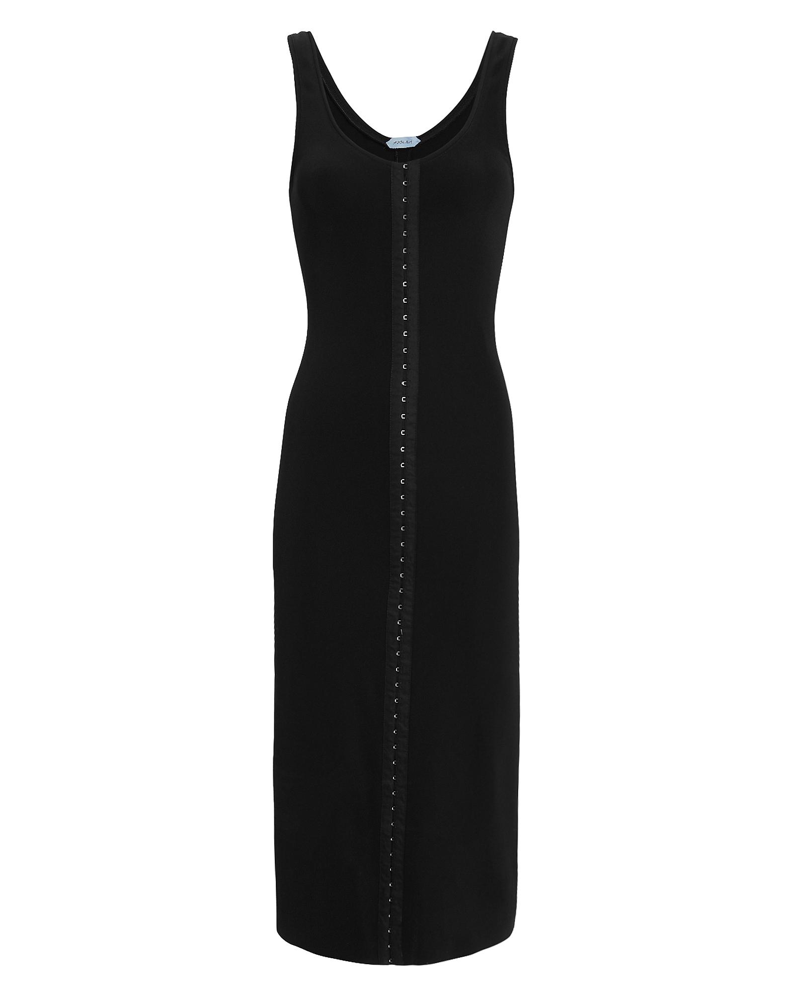 Mugler Dresses Corset Hooks Midi Dress