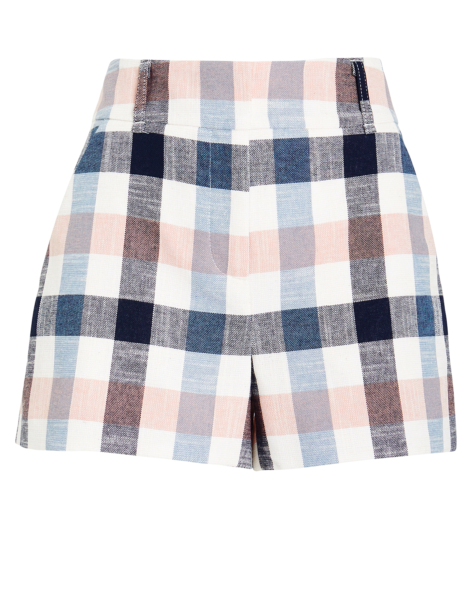 Veronica Beard Shorts VERONICA BEARD ILENE TAILORED GINGHAM SHORTS  BLUE/PINK 4