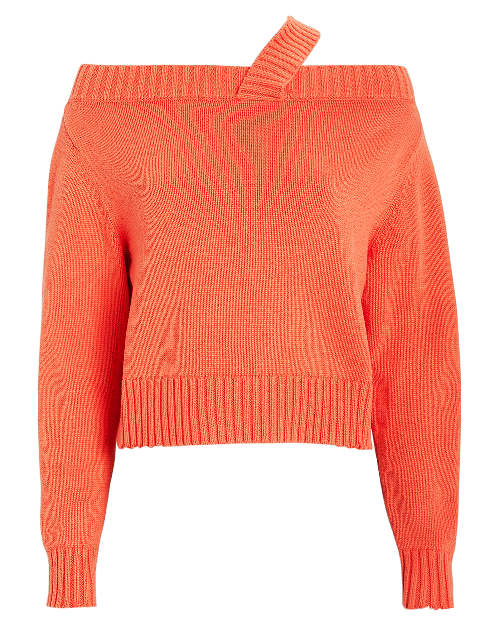 Rta Knits RTA BECKETT KNIT COTTON SWEATER  CORAL M