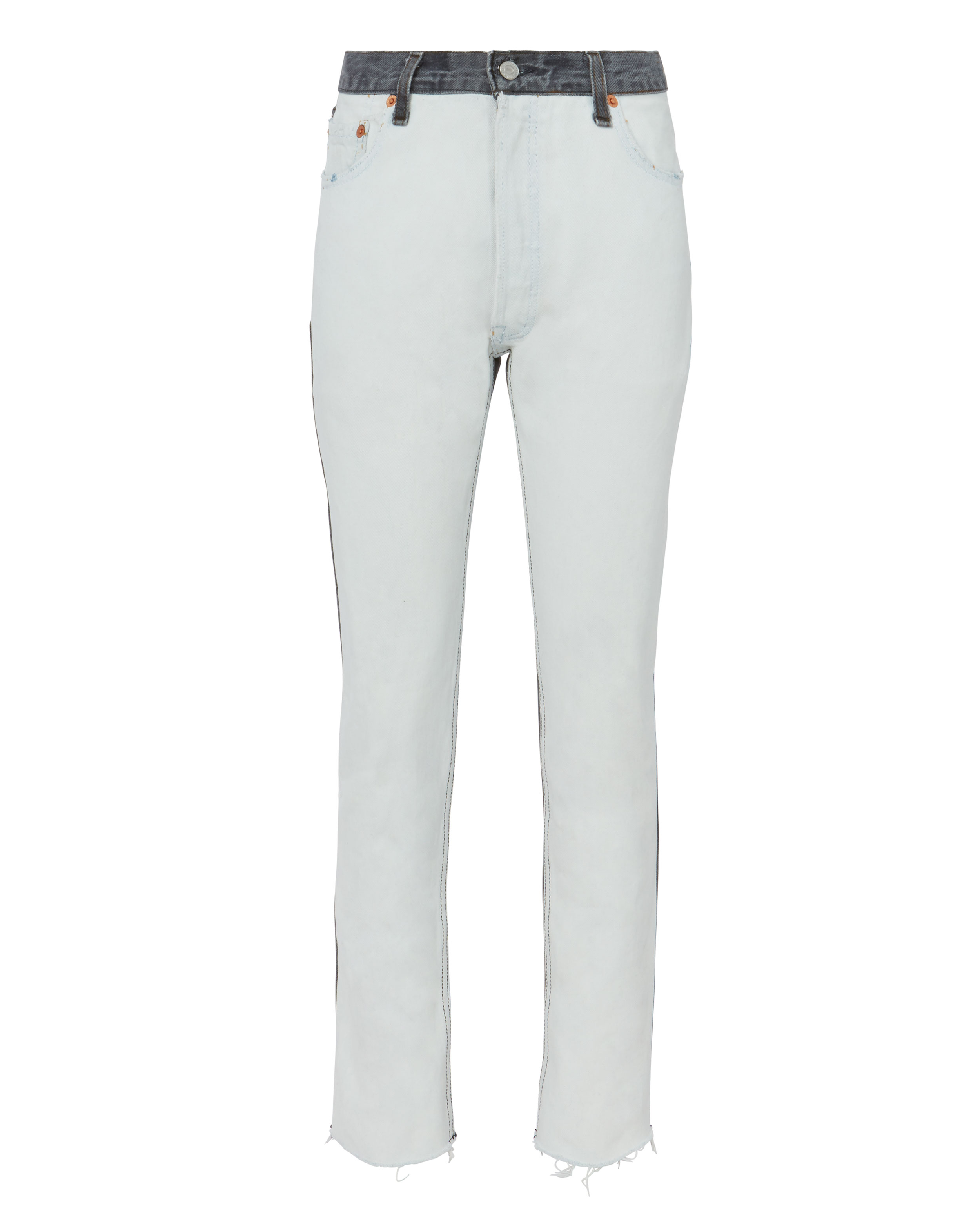 High Rise Two Tone Ankle Crop Jeans by Re/Done