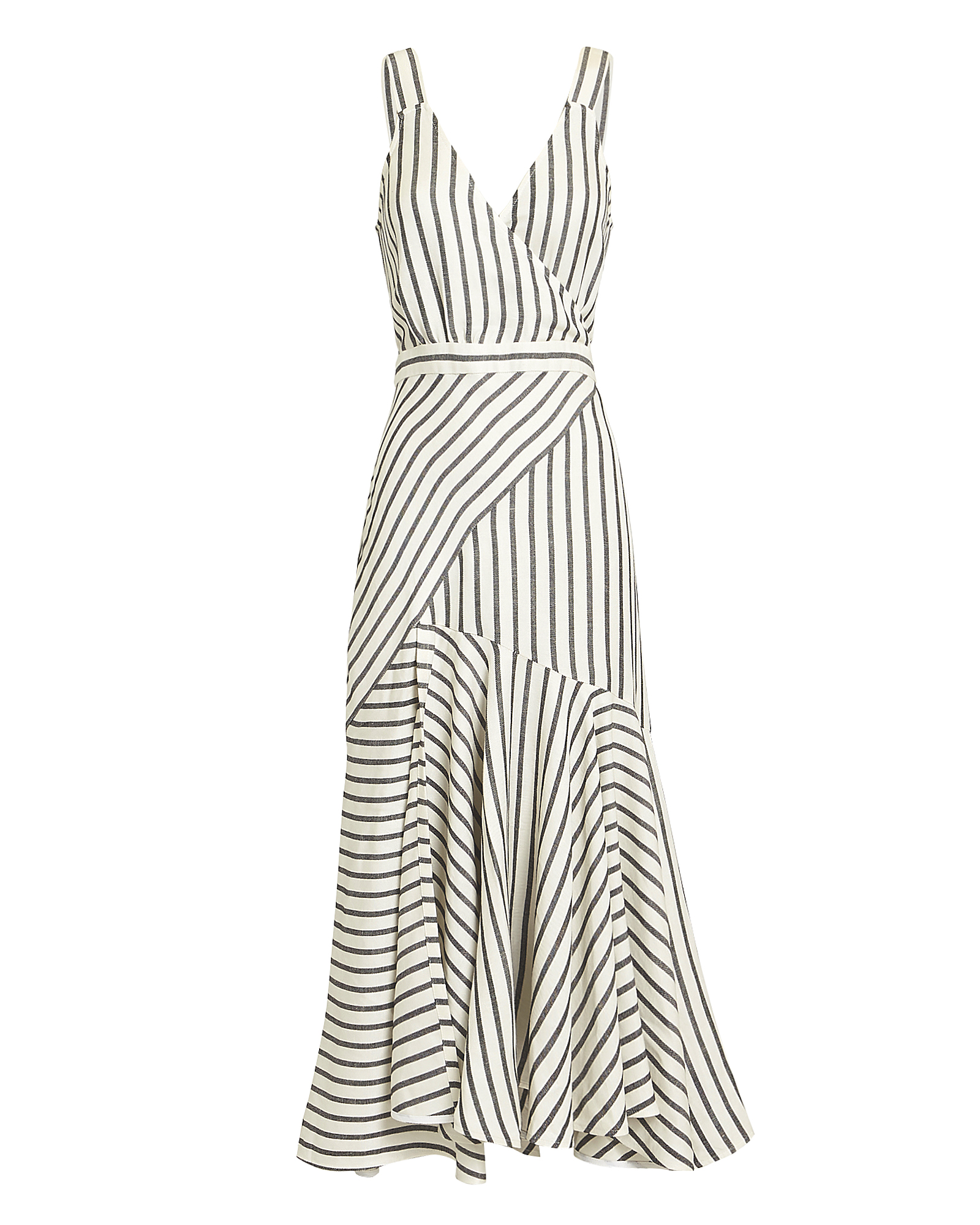 LOVER Marinere Stripe Midi Dress Black/White